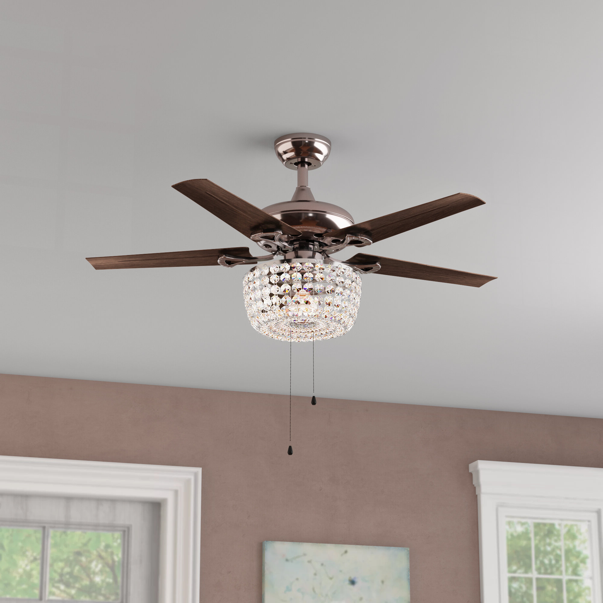 "Current Dunaghy 5 Blade Ceiling Fans Pertaining To 43"" Aslan 5 Blade Ceiling Fan, Light Kit Included (View 4 of 20)"