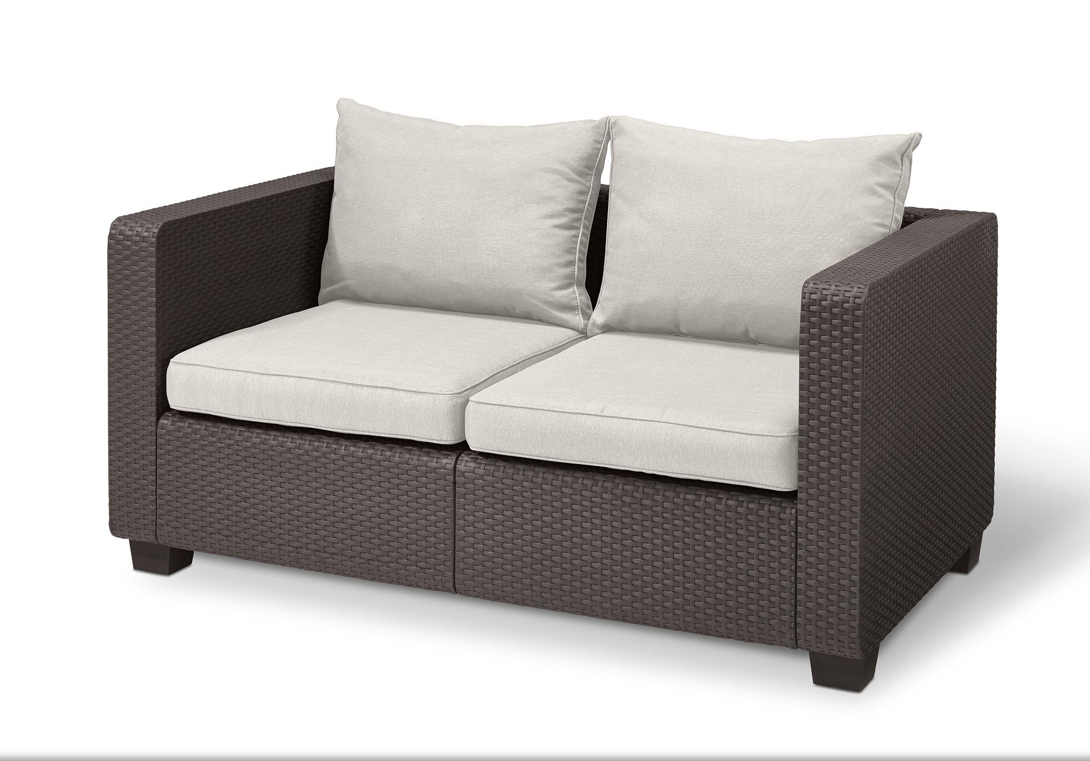 Current Halloran Loveseat With Sunbrella Cushions With Mosca Patio Loveseats With Cushions (View 2 of 20)