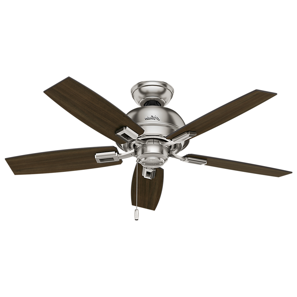 "Current Hunter 44"" Donegan Three Light Onyx Bengal Ceiling Fan With Light Pertaining To Donegan 5 Blade Ceiling Fans (View 4 of 20)"