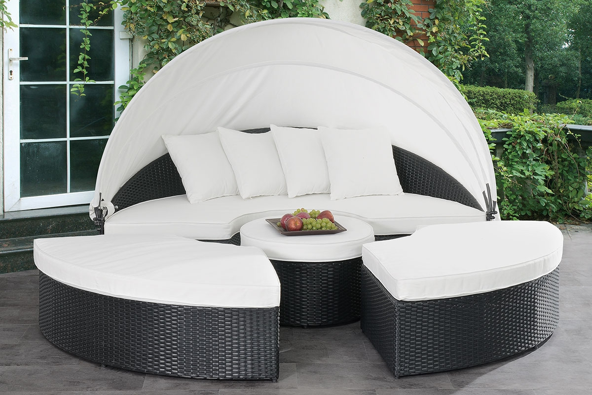 Current Keiran Outdoor Daybed Set Regarding Keiran Patio Sofas With Cushions (View 13 of 20)