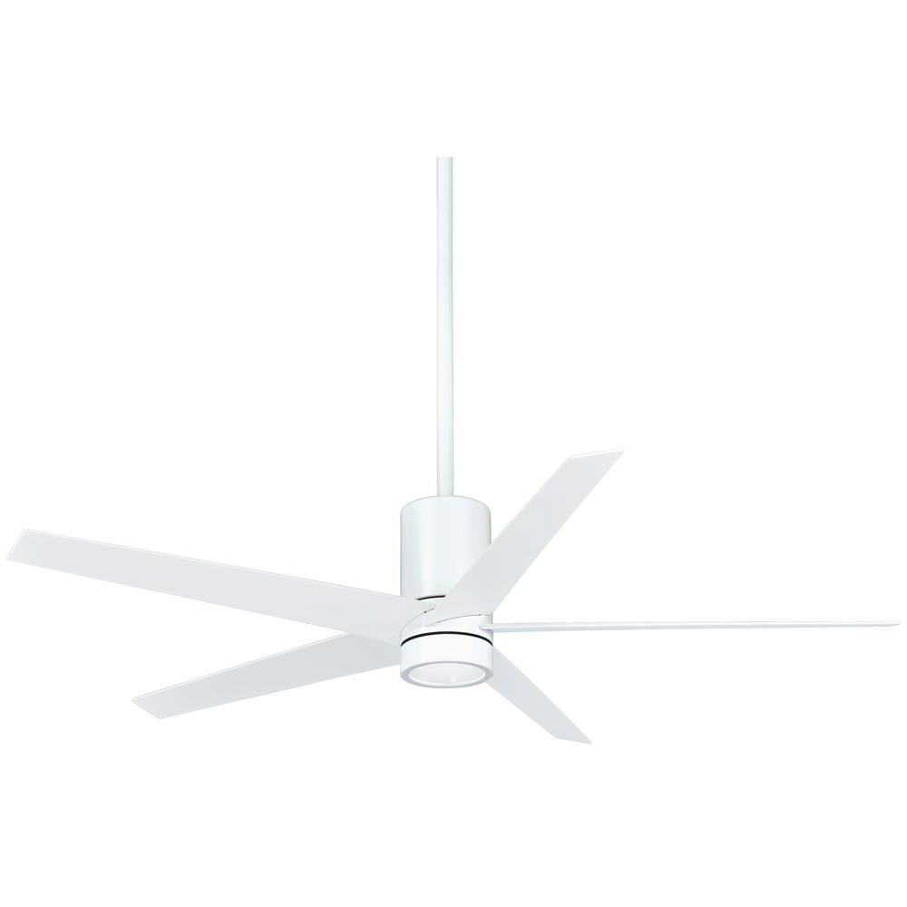 Current Symbio 5 Blade Led Ceiling Fans In Minka Aire Symbio 56 In (View 5 of 20)