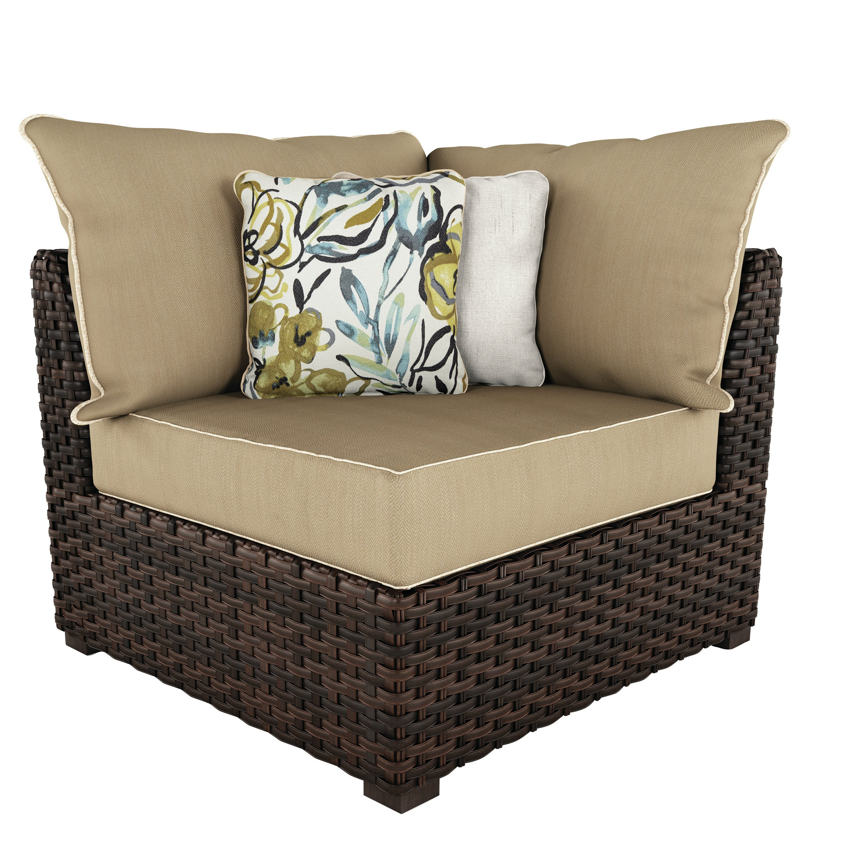 Dante Patio Chair With Cushions Within Widely Used Stapleton Wicker Resin Patio Sofas With Cushions (View 4 of 20)