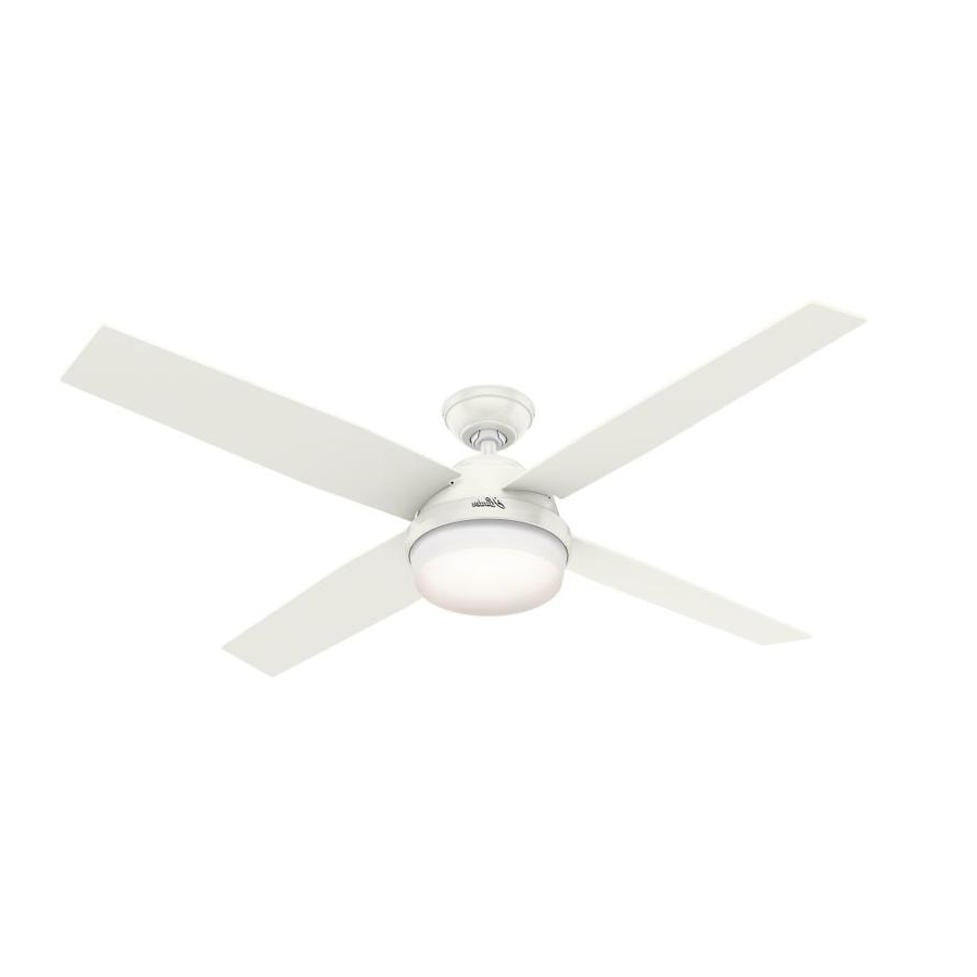 Dempsey 4 Blade Ceiling Fans For 2020 Write A Review About Hunter Dempsey 60 In Satin White Led (View 4 of 20)