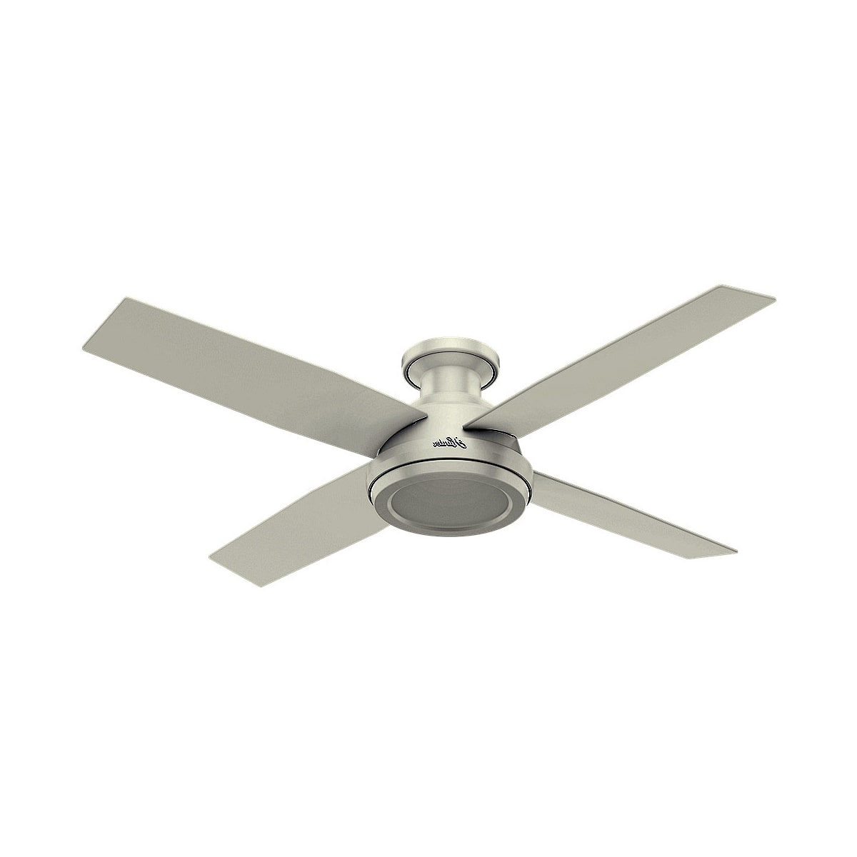 Dempsey Low Profile 4 Blade Ceiling Fans With Remote In Most Recent Hunter Dempsey 52 Low Profile (View 10 of 20)