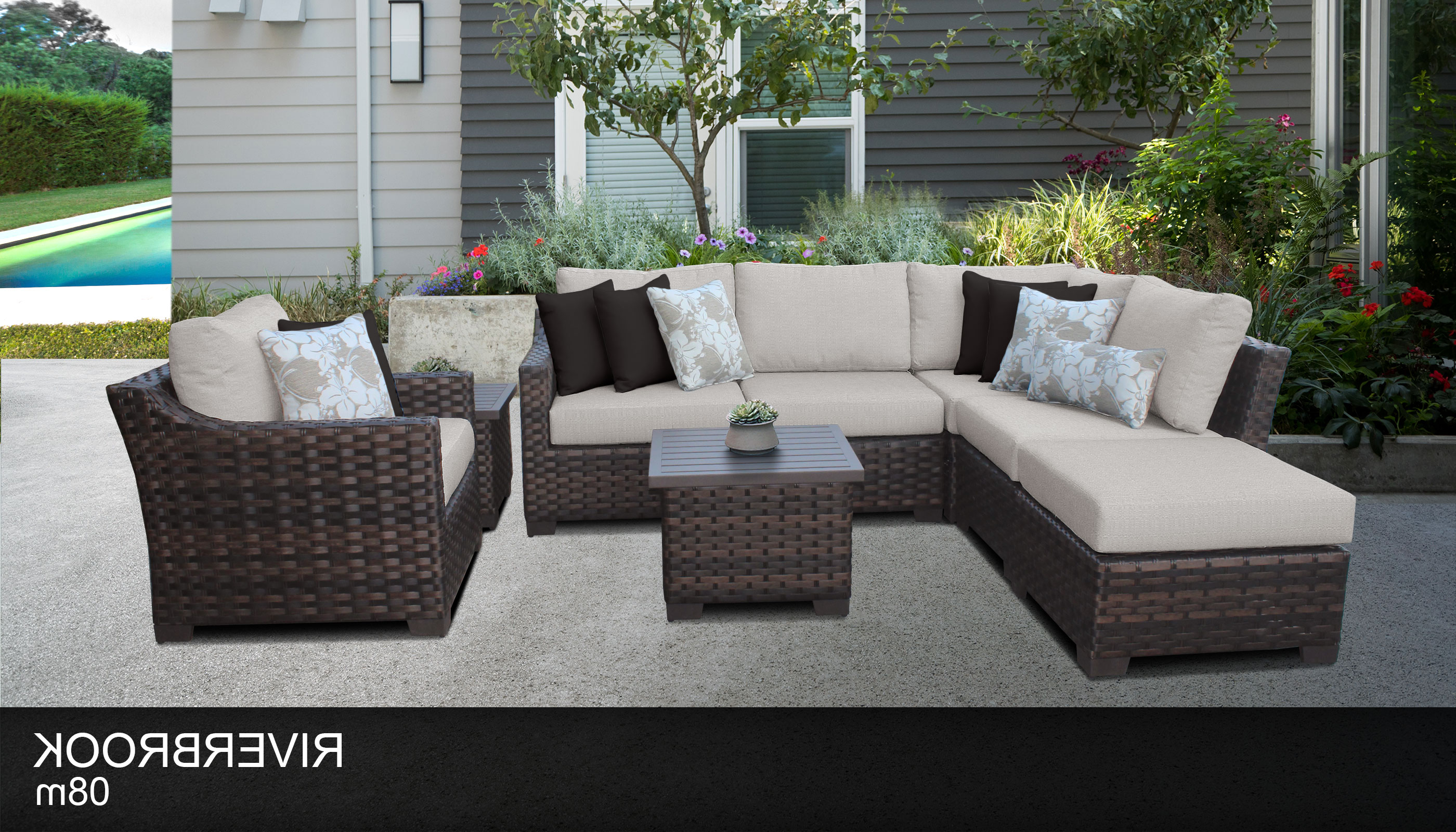 Design Furnishings In Current Oreland Patio Sofas With Cushions (View 9 of 20)