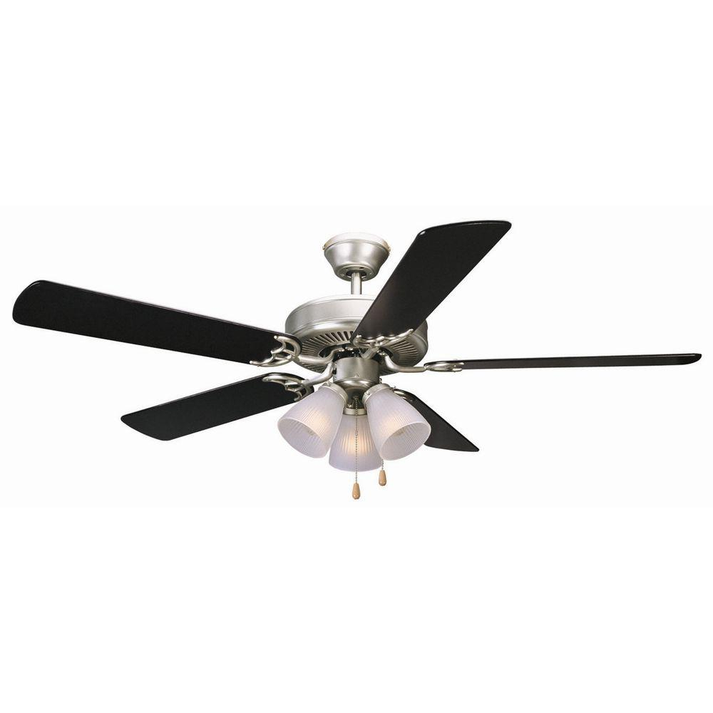Design House Millbridge 52 In. Satin Nickel Ceiling Fan Throughout Well Known Jules 6 Blade Ceiling Fans (Gallery 6 of 20)