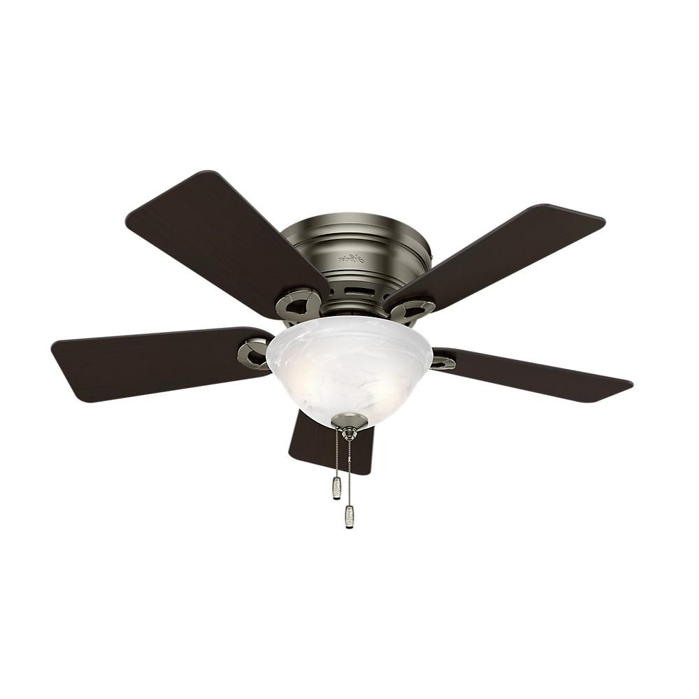 """Details About Hunter Conroy Conroy 42"""" 5 Blade Hugger Flush Mount Indoor  Ceiling Fan – Blades Inside Popular Conroy 5 Blade Ceiling Fans (View 14 of 20)"""