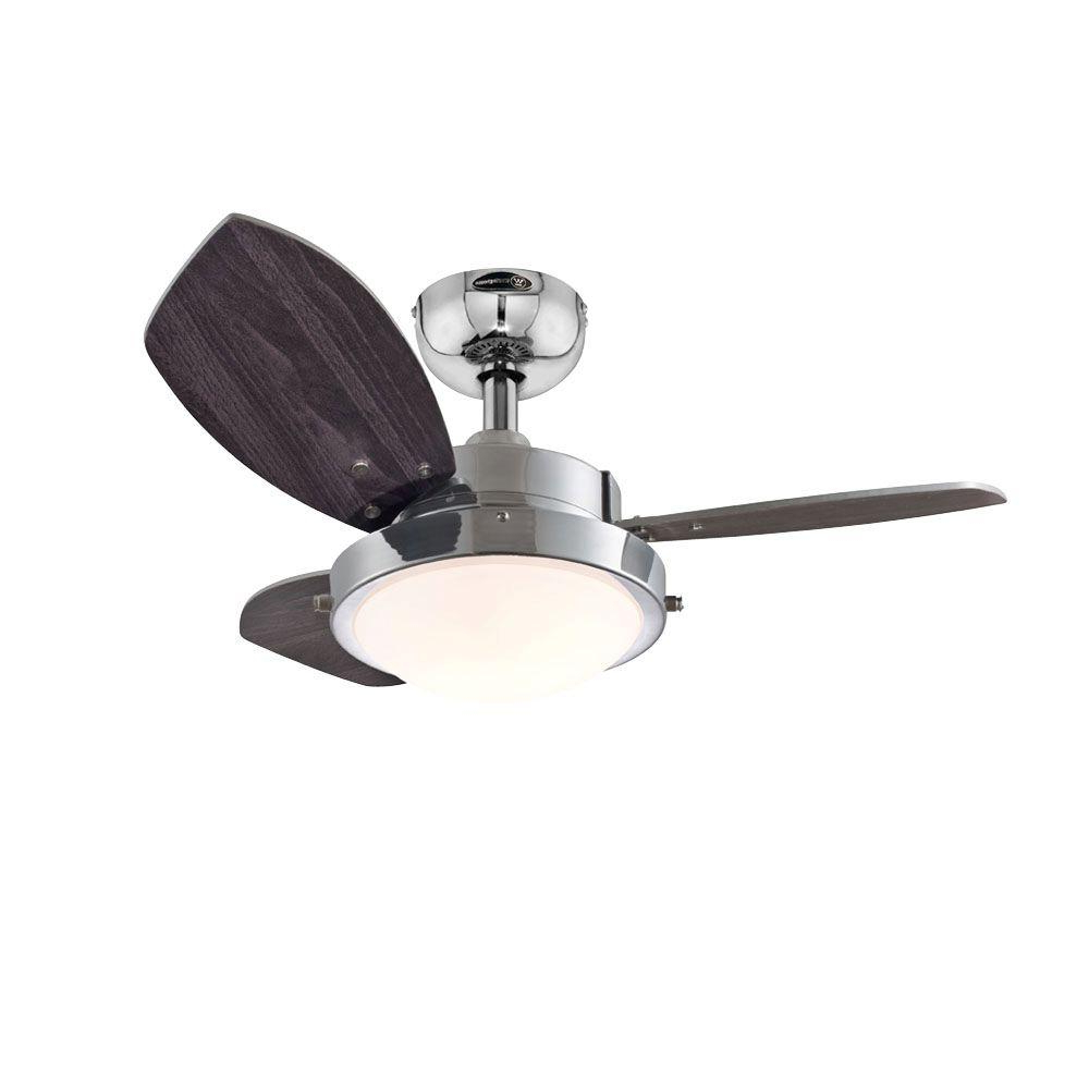 Details About New Ceiling Fan 30 In 2 Light Kit Reversible Blades Remote  Control Chrome Finish Throughout Famous Rainman 5 Blade Outdoor Ceiling Fans (View 5 of 20)