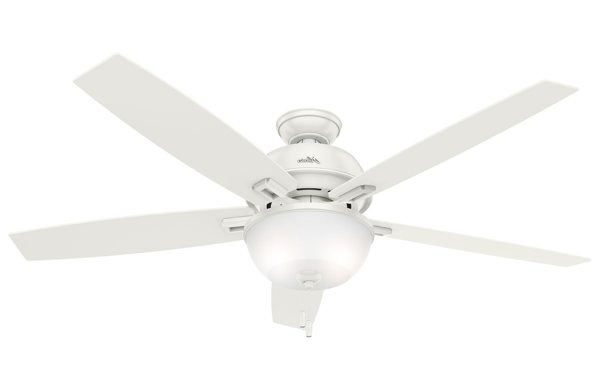 "Donegan 5 Blade Led Ceiling Fans In Preferred Hunter Donegan 60"" Fresh White Ceiling Fan With Led Light (View 12 of 20)"