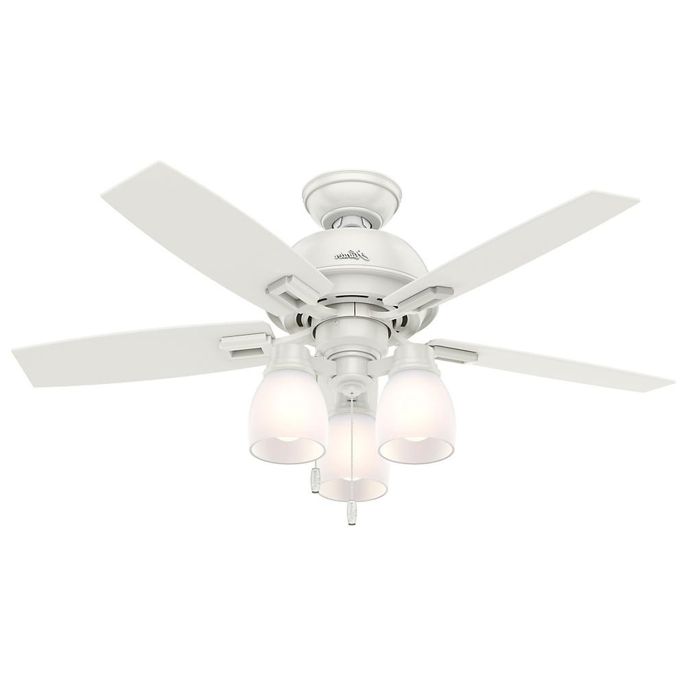 Donegan 5 Blade Led Ceiling Fans Inside Well Liked Hunter Donegan Three Light 44 Ceiling Fan Model (View 13 of 20)