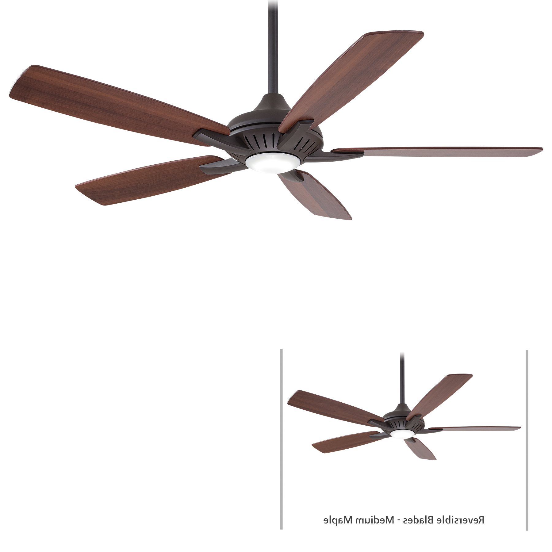 Dyno 5 Blade Ceiling Fans In Favorite Minka Group® :: Brands :: Minka Aire® :: F1000 Orb (View 4 of 20)