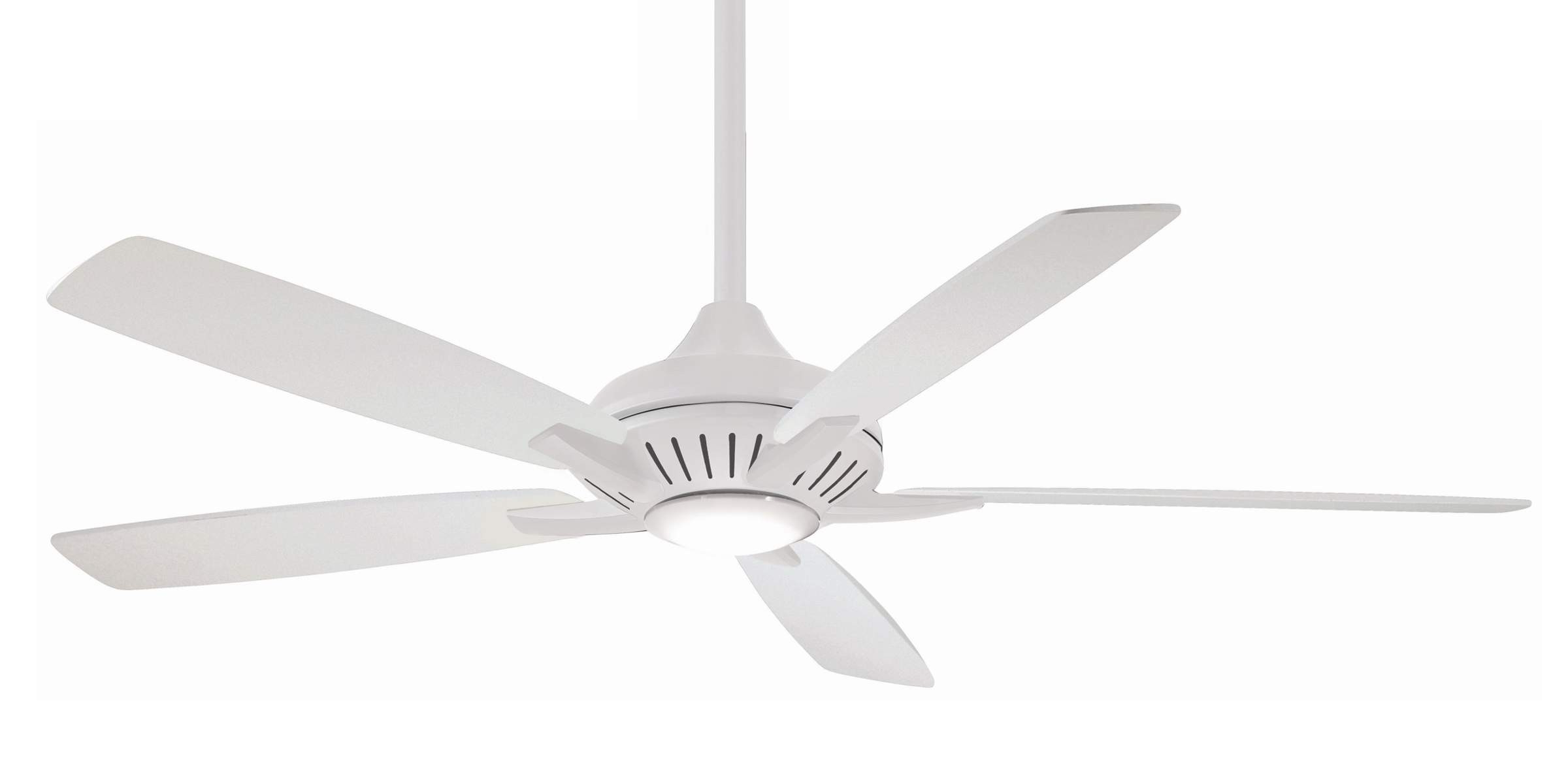 Dyno 5 Blade Ceiling Fans Intended For Most Current Minka Aire F1001 Wh 60 Inch Dyno Xl Ceiling Fan In White (View 9 of 20)