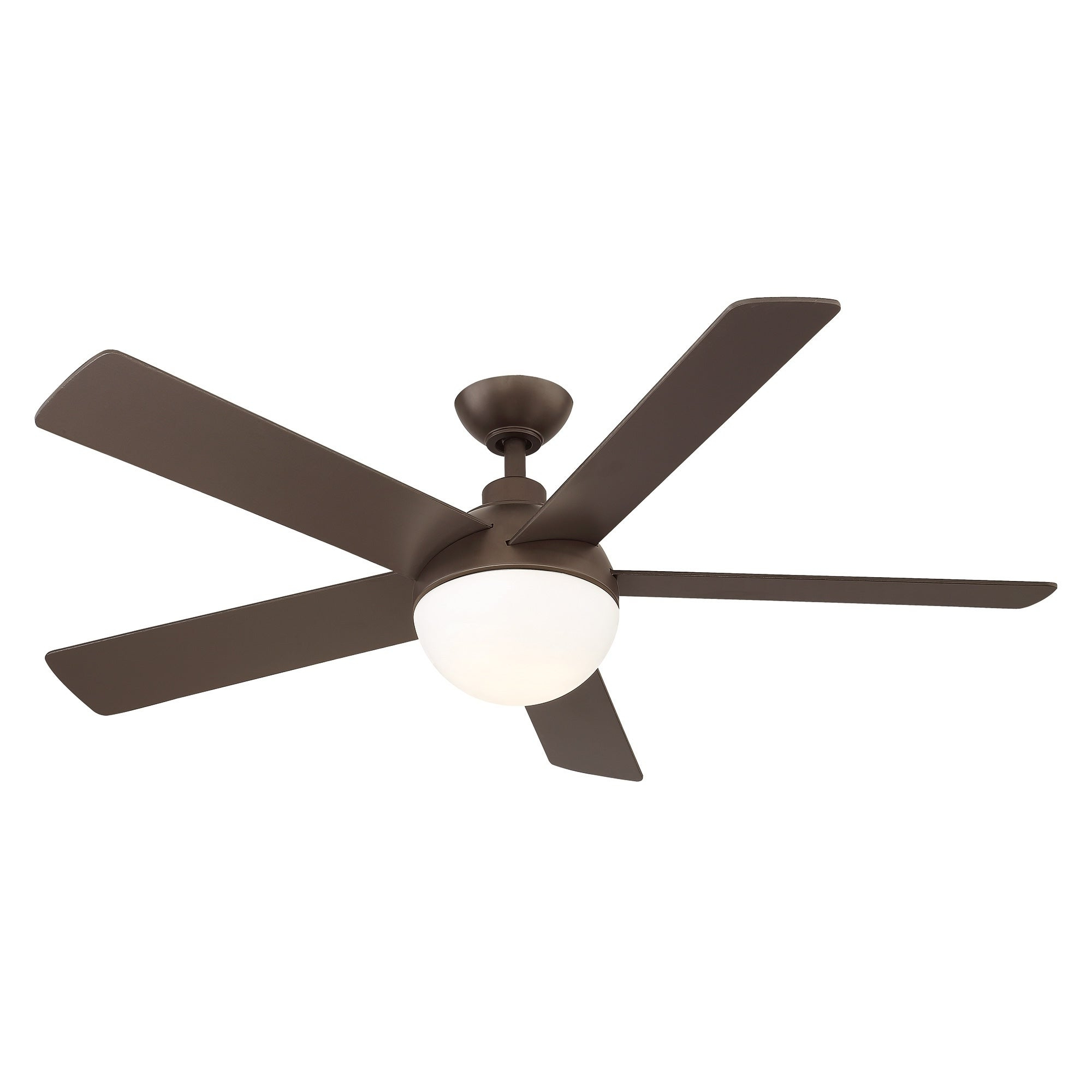 Eglo Tulum 52 Inch 5 Blade Ceiling Fan W/ Bronze Finish & Integrated Led  Light Kit Pertaining To Most Popular Ratcliffe 5 Blade Led Ceiling Fans (View 7 of 20)