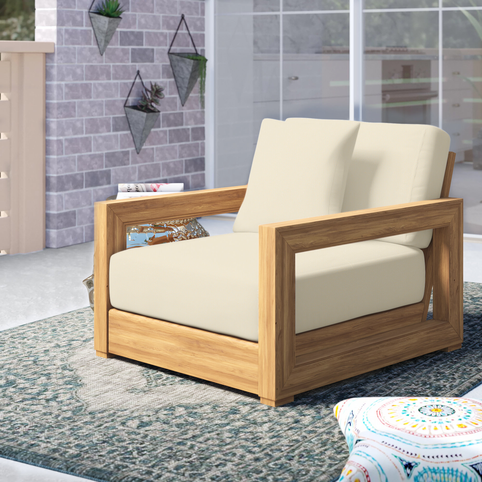 Ellanti Teak Patio Daybeds With Cushions For Well Known Union Rustic Ellanti Teak Patio Daybed With Cushions (View 4 of 20)