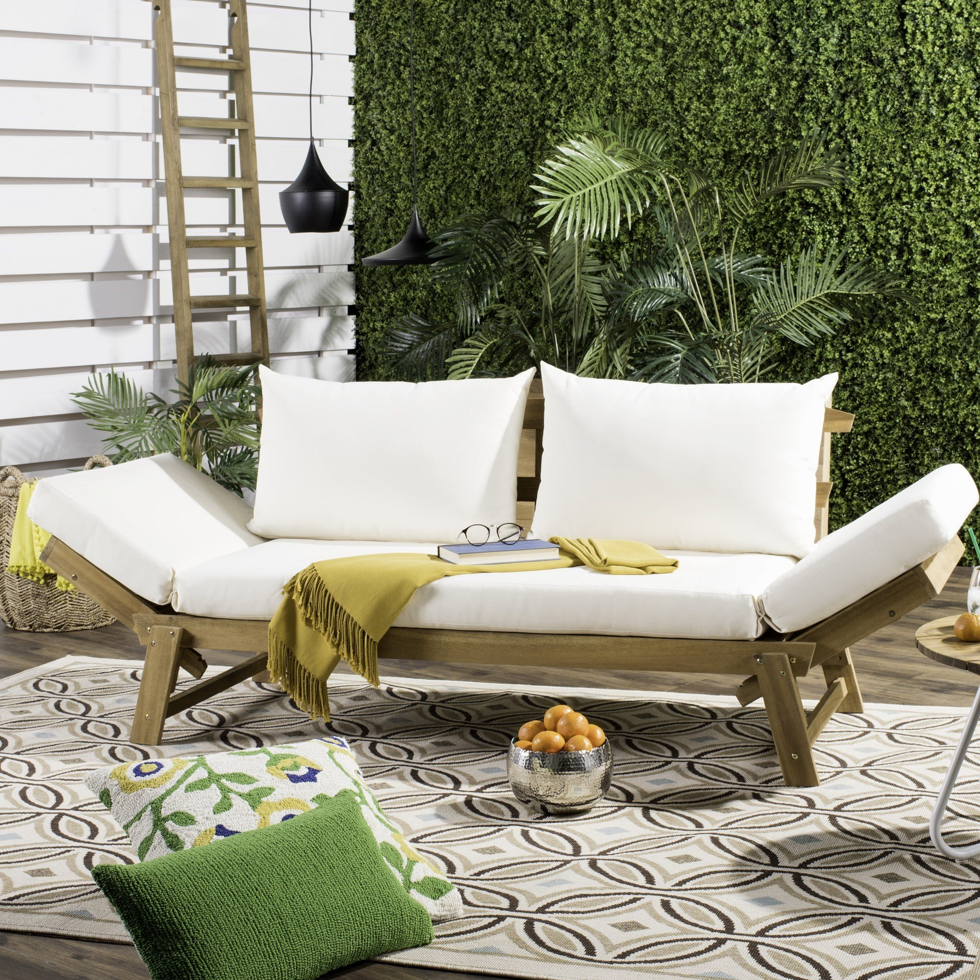 Ellanti Teak Patio Daybeds With Cushions Regarding Most Popular Birch Lane™ Heritage Beal Patio Daybed With Cushions (View 7 of 20)