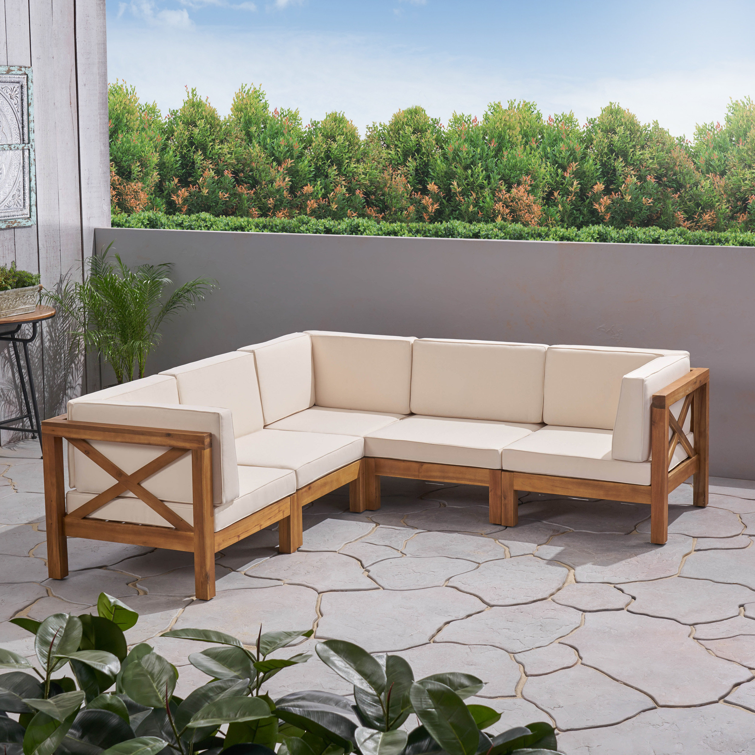 Ellison Patio Sectionals With Cushions With Regard To Current Ellison Patio Sectional With Cushions (View 8 of 20)