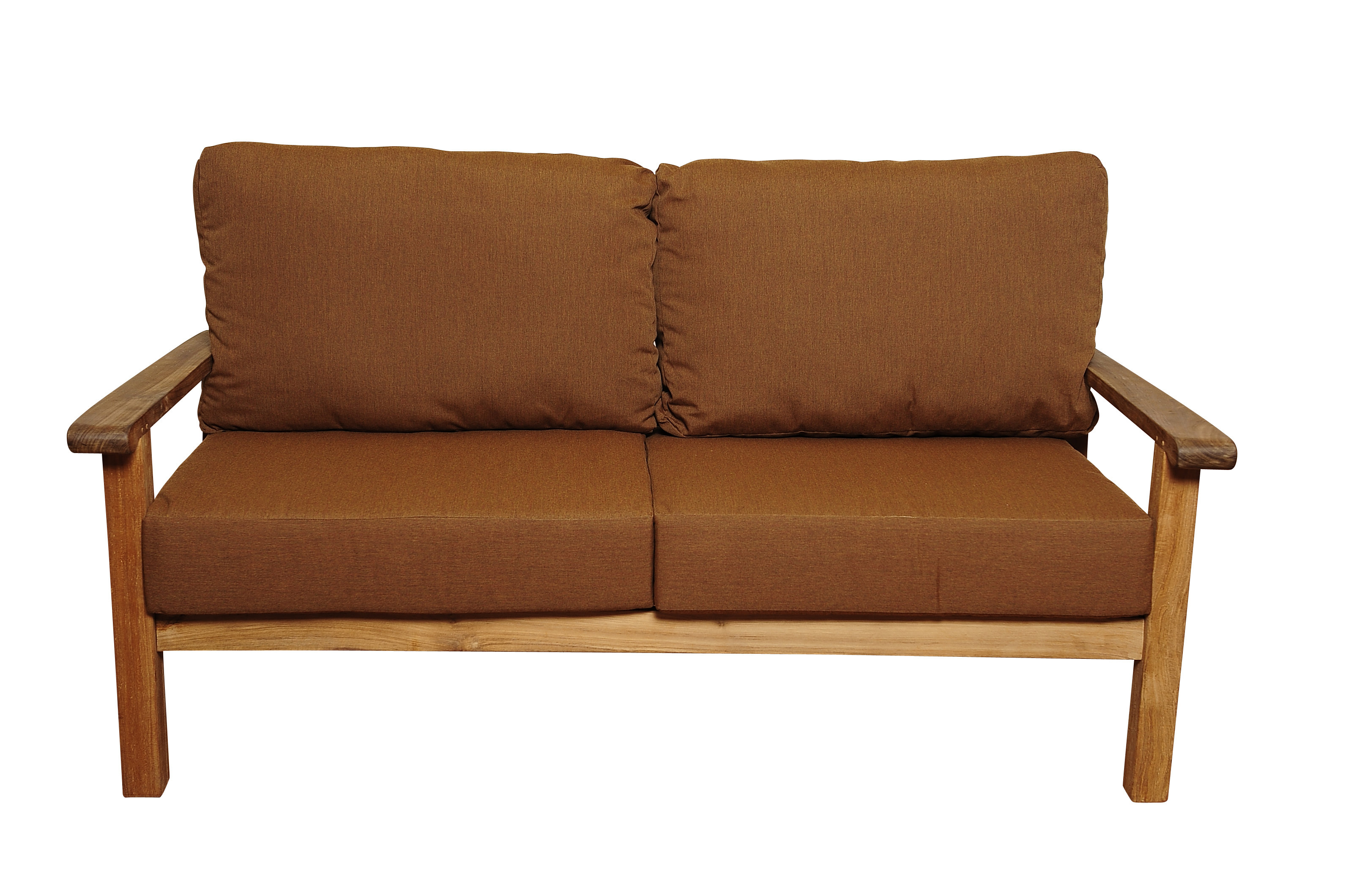 Elsmere Teak Loveseat With Sunbrella Cushions Throughout Most Recent Calila Teak Loveseats With Cushion (View 13 of 20)