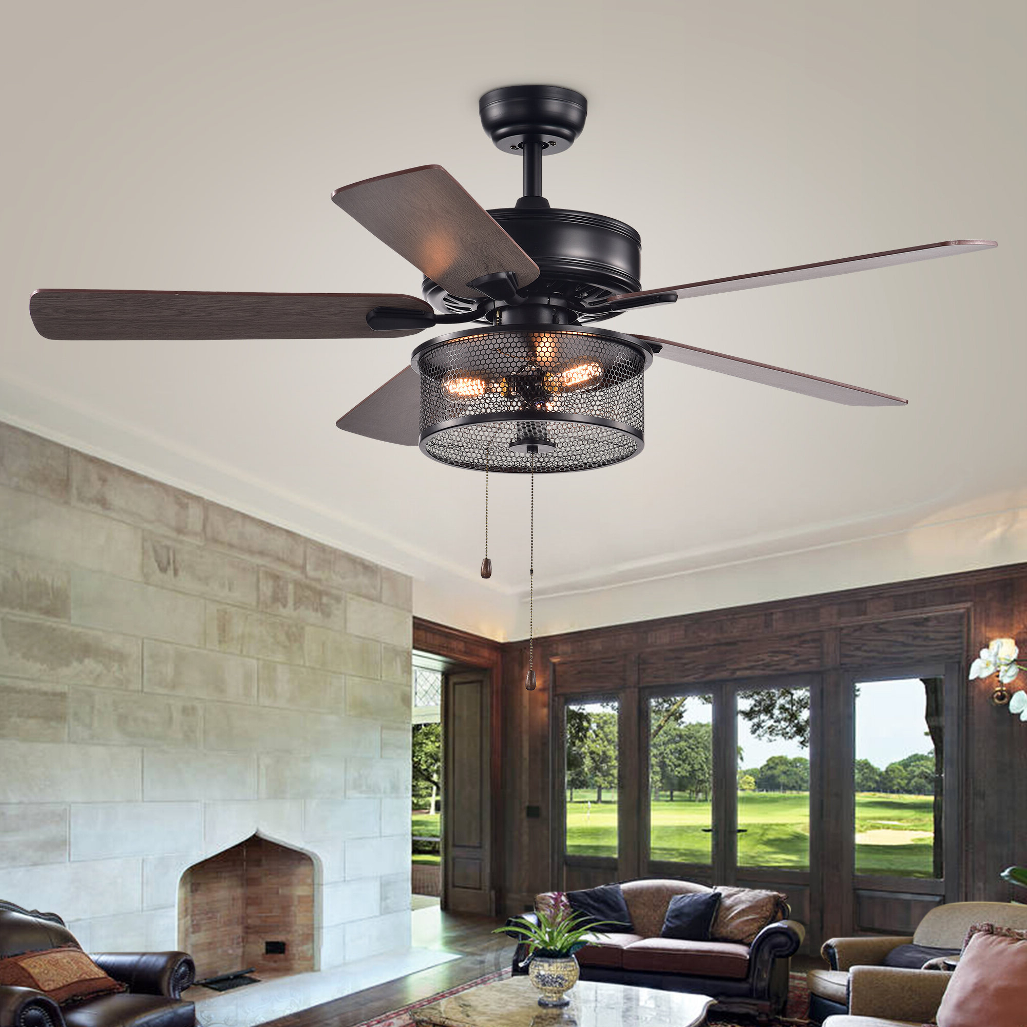 Elyssa 5 Blade Ceiling Fan, Light Kit Included & Reviews Intended For Most Popular Roberts 5 Blade Ceiling Fans (View 10 of 20)