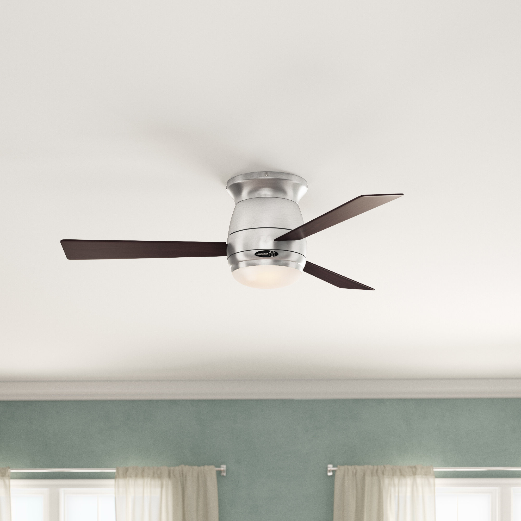 """Embrace 3 Blade Ceiling Fans Intended For 2019 44"""" Yamashita 3 Blade Led Ceiling Fan With Remote (View 7 of 20)"""