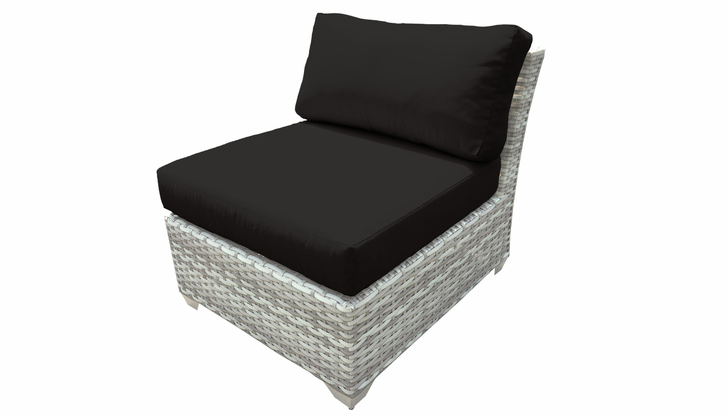 Falmouth Armless Patio Chair With Cushions Regarding Most Up To Date Falmouth Patio Sofas With Cushions (View 16 of 20)