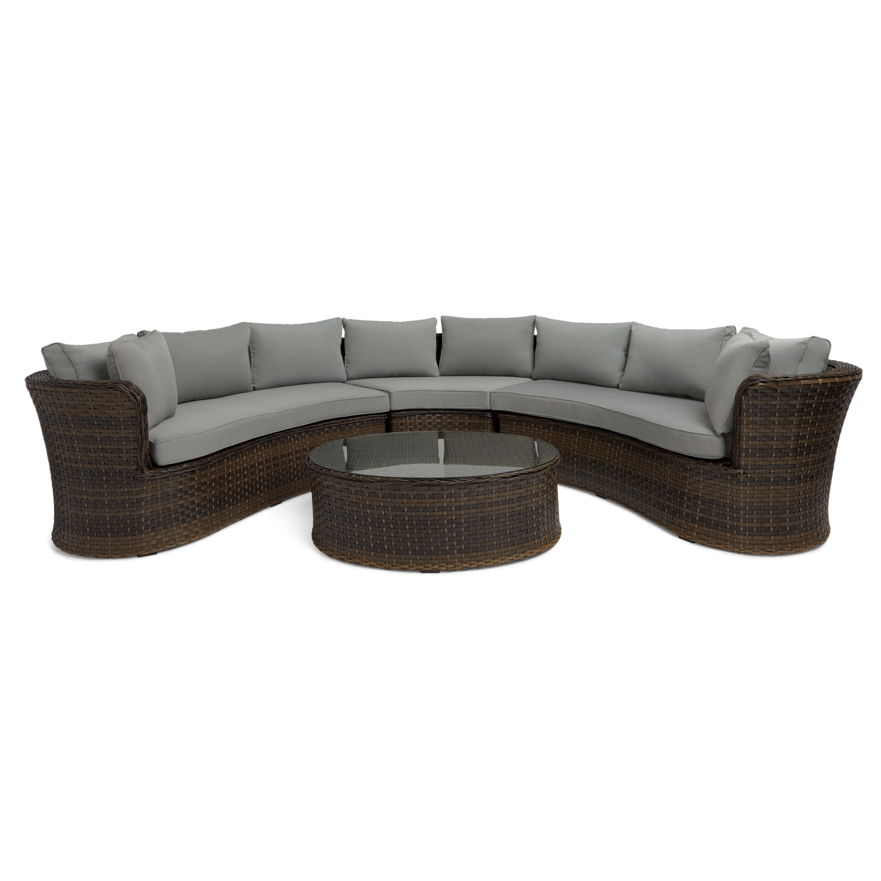 Falmouth Patio Sofas With Cushions For Well Liked Havenside Home Falmouth 4 Piece Sofa Set (View 15 of 20)