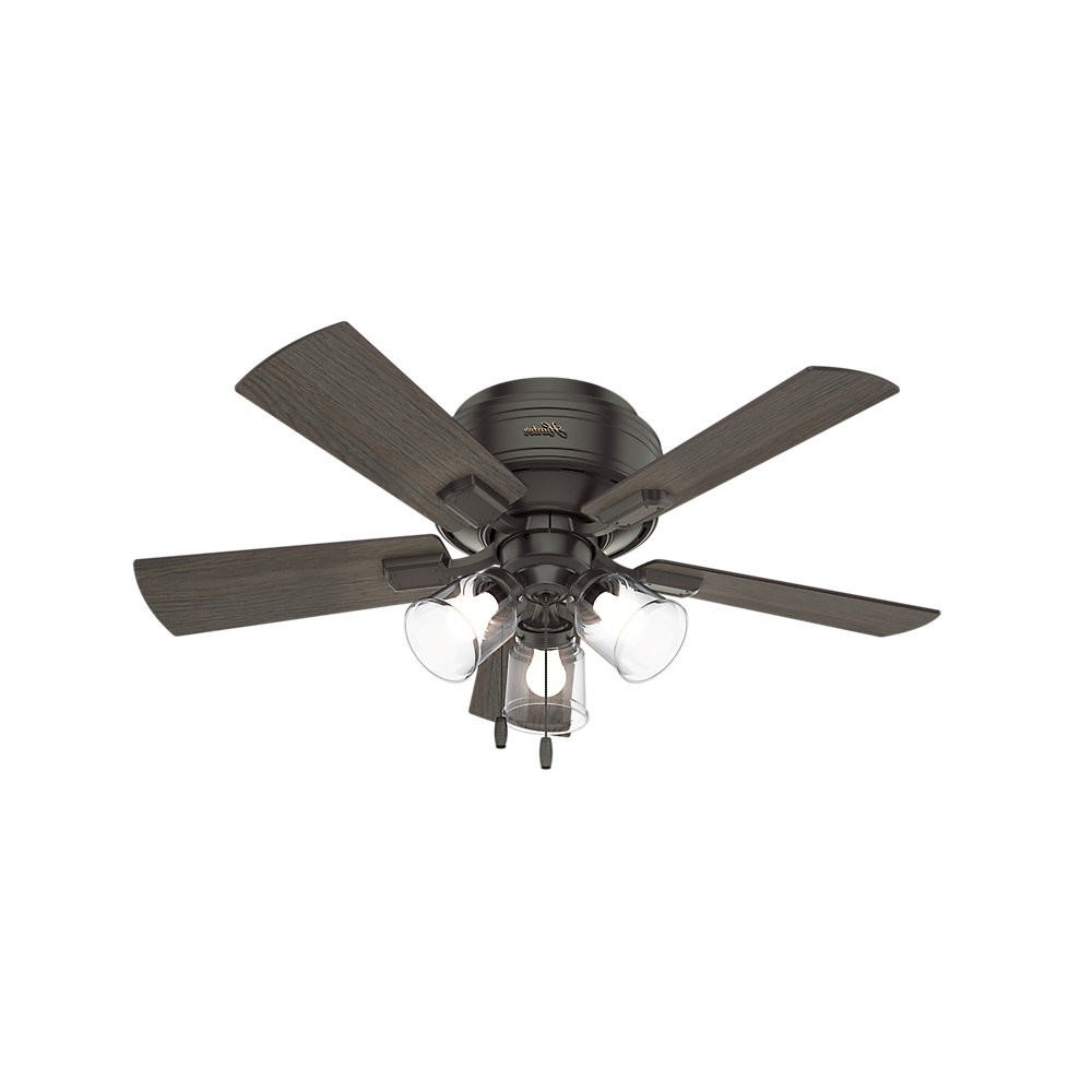 "Famous 42"" Crestfield 5 Blade Ceiling Fan, Light Kit Included Pertaining To Crestfield 5 Blade Ceiling Fans (View 9 of 20)"