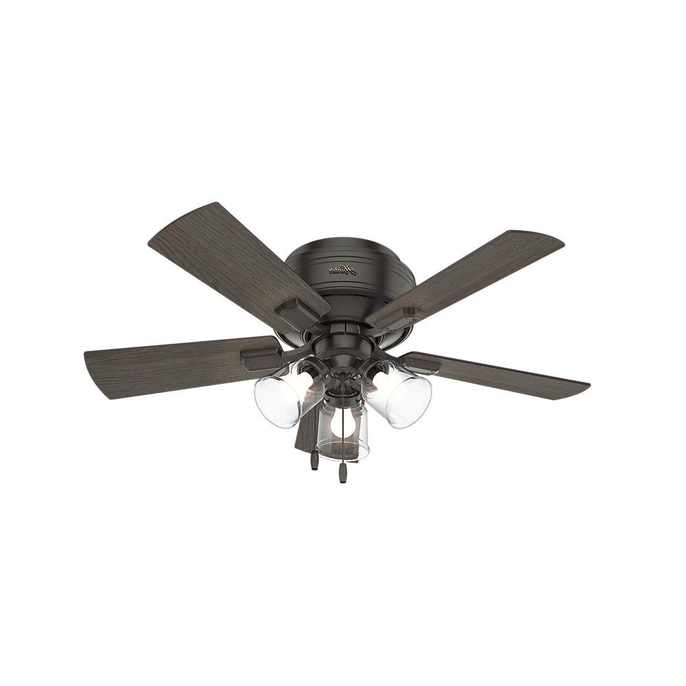 "Famous 42"" Crestfield 5 Blade Ceiling Fan, Light Kit Included Pertaining To Crestfield 5 Blade Ceiling Fans (View 9 of 20)"