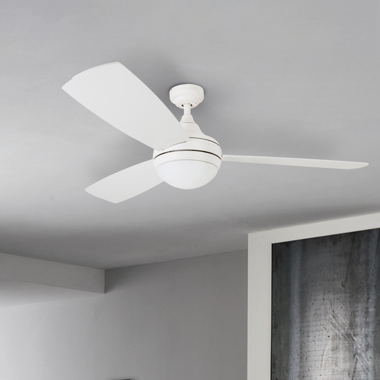 "Famous 52"" Alyce 3 Blade Led Ceiling Fan With Remote Control Within Alyce 3 Blade Led Ceiling Fans With Remote Control (View 3 of 20)"
