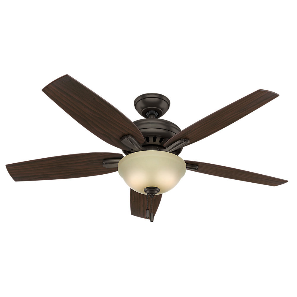 "Famous 52"" Newsome 5 Blade Ceiling Fan Regarding Newsome 5 Blade Ceiling Fans (View 5 of 20)"