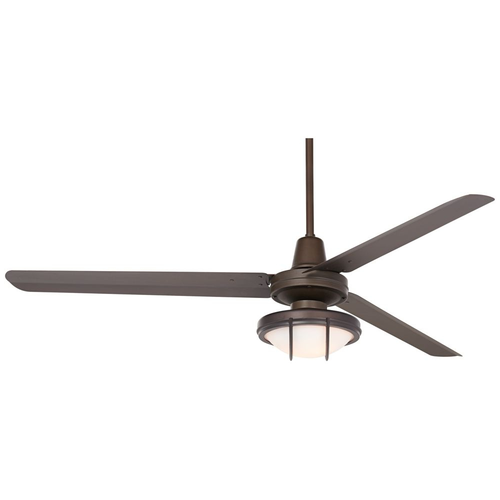 "Famous 60"" Casa Turbina Bronze And Frosted Glass Led Ceiling Fan With Regard To Sudie 5 Blade Led Ceiling Fans (View 20 of 20)"