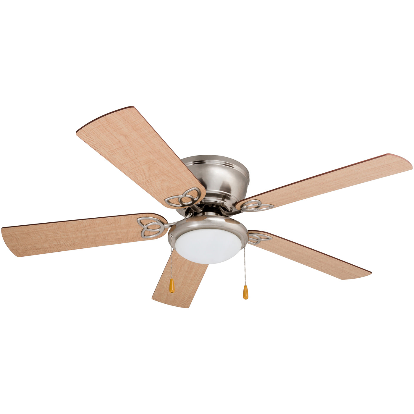 "Famous Details About Prominence Home Benton Benton 52"" 5 Blade Led Hugger Indoor  Ceiling Fan With For Cedarton 5 Blade Led Ceiling Fans (View 14 of 20)"