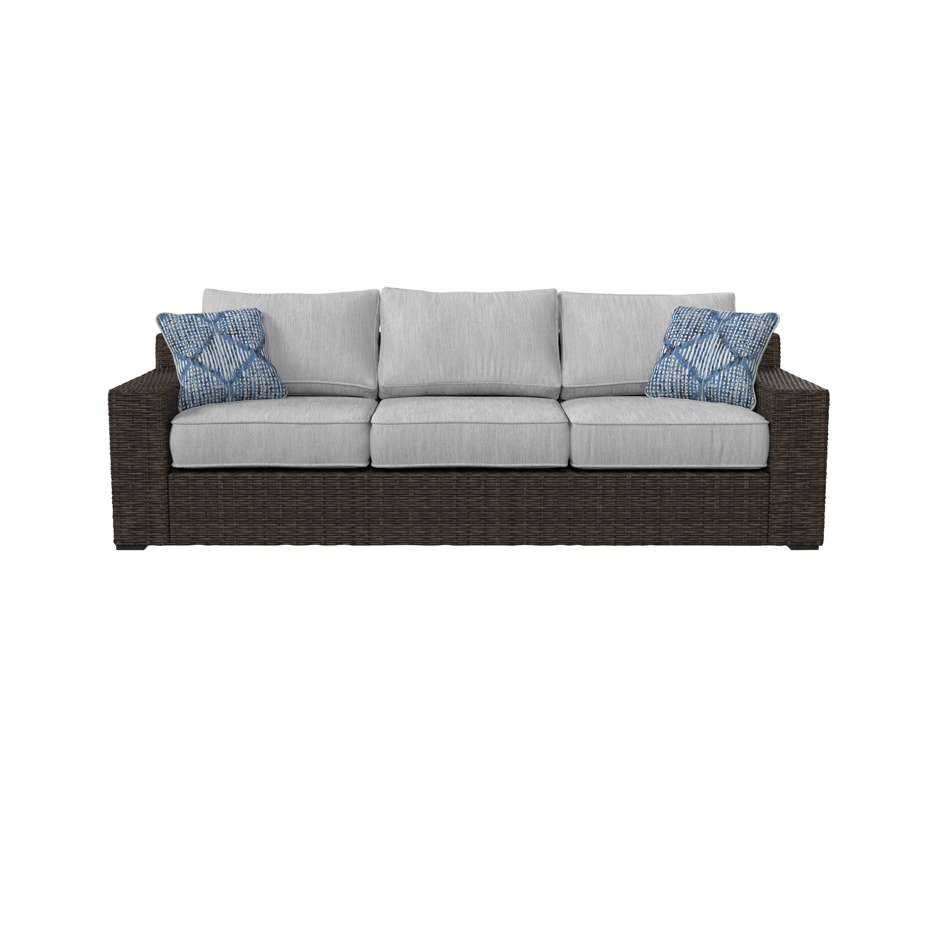 Famous Oreland Patio Sofa With Cushions Intended For Mcmanis Patio Sofas With Cushion (View 17 of 20)
