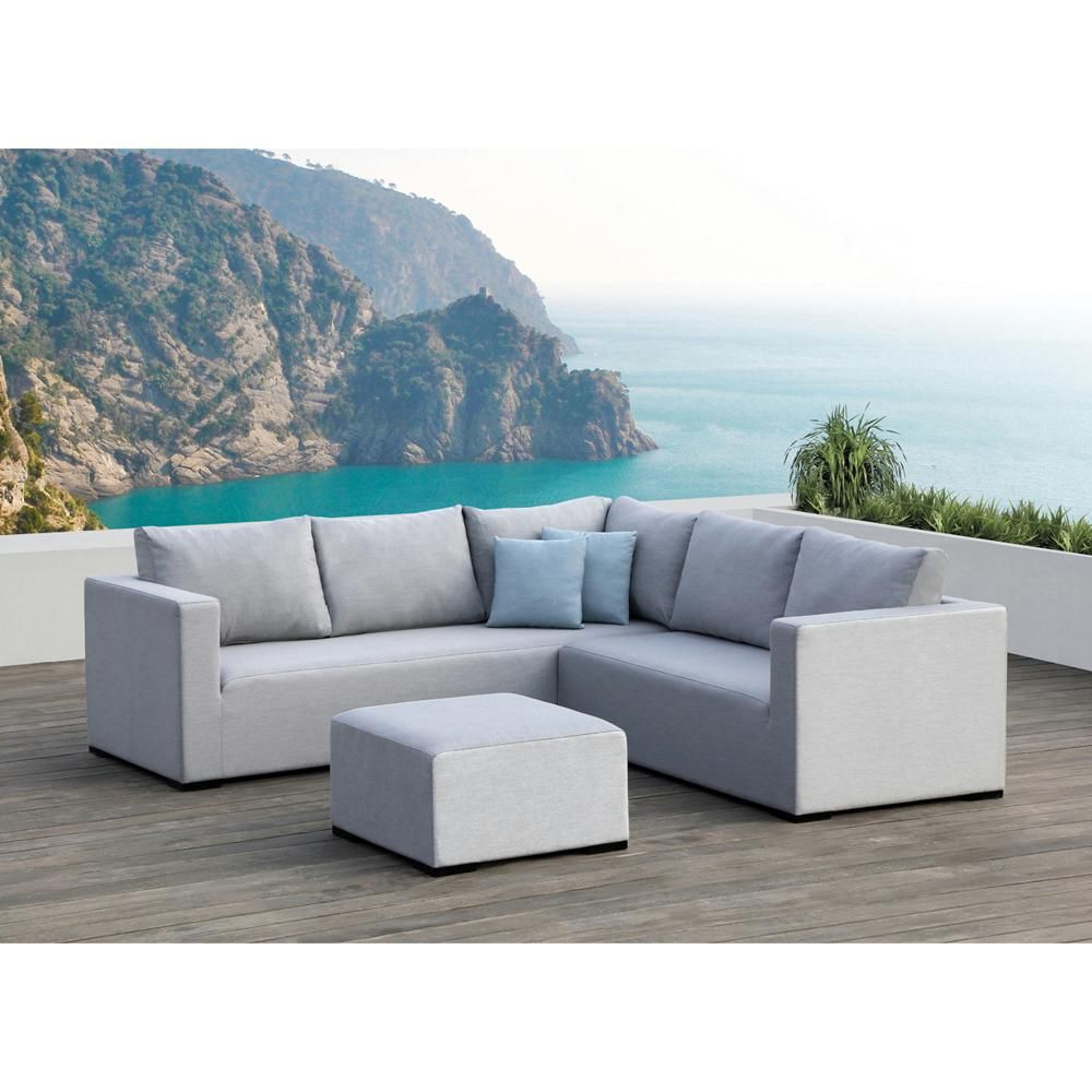 Famous Ove Decors Ego Gray 3 Piece Aluminum Outdoor Sectional Set Inside Paloma Sectionals With Cushions (View 3 of 20)
