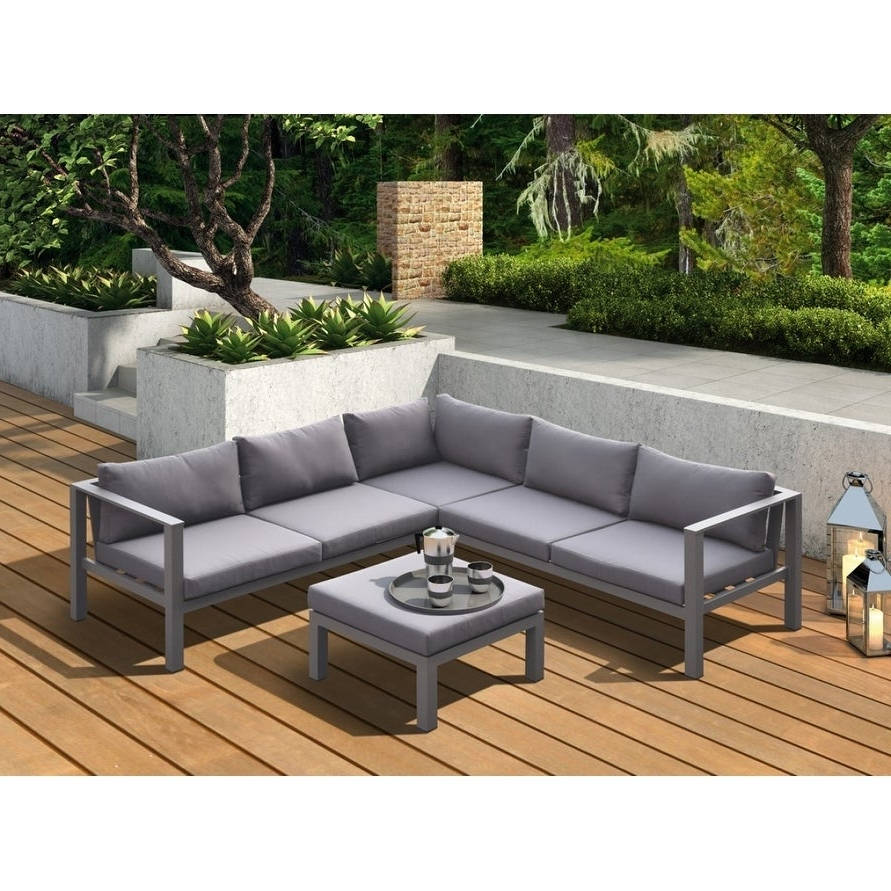 Famous Paloma Sectionals With Cushions Pertaining To Renava Coastal Outdoor Grey Sectional Sofa & Coffee Table Set (View 10 of 20)