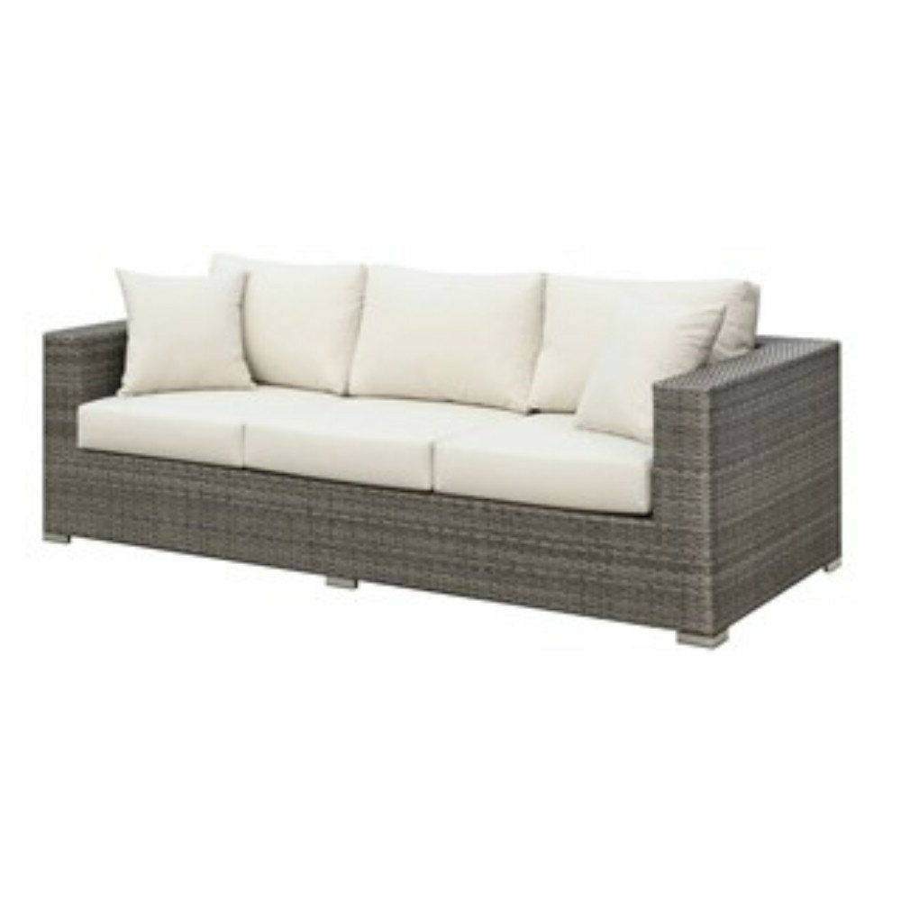 Famous Shearin Patio Sofa With Cushions With Regard To Avadi Outdoor Sofas & Ottomans 3 Piece Set (View 16 of 25)