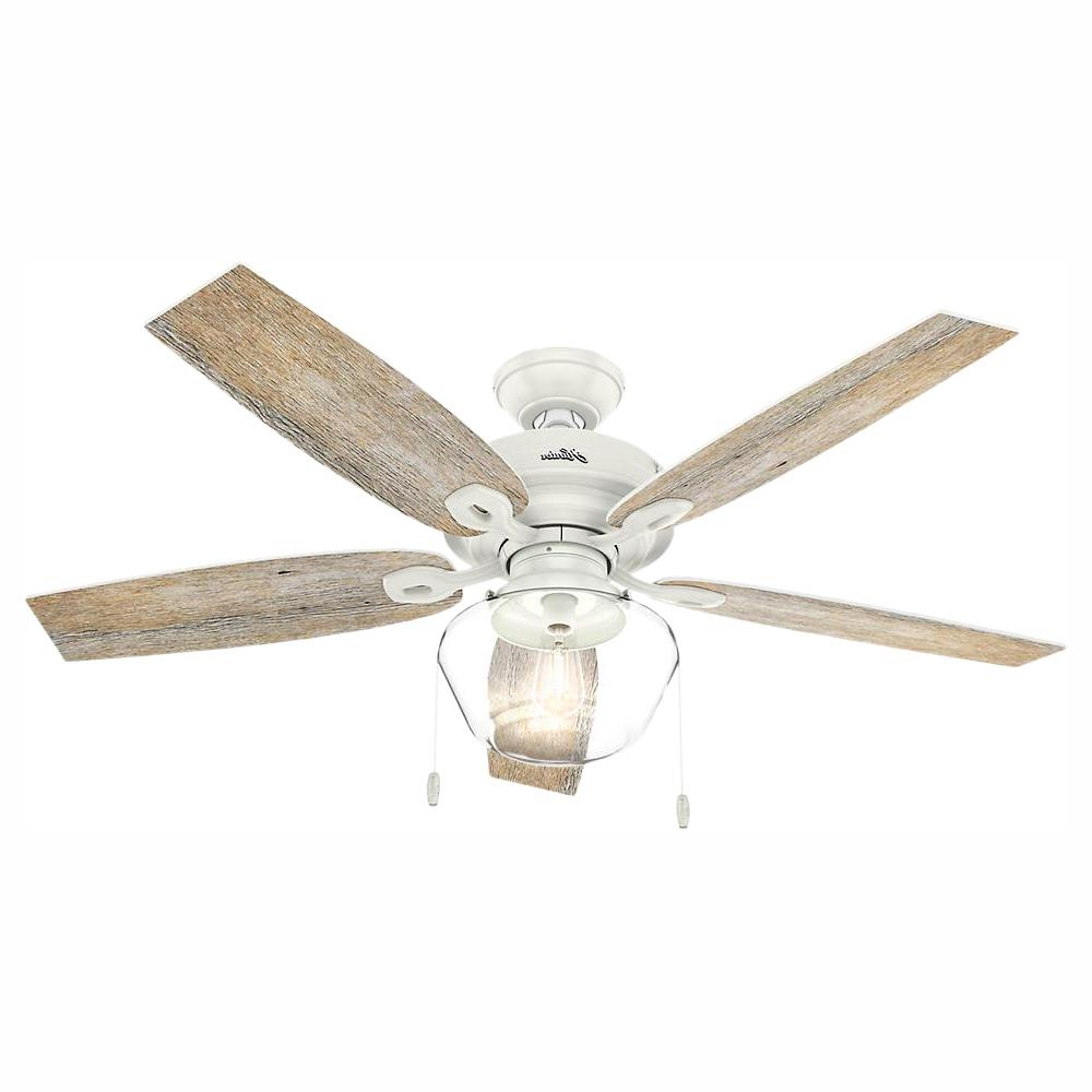 Famous Sheyla 5 Blade Led Ceiling Fans Inside Hunter Crown Canyon 52 In (View 11 of 20)
