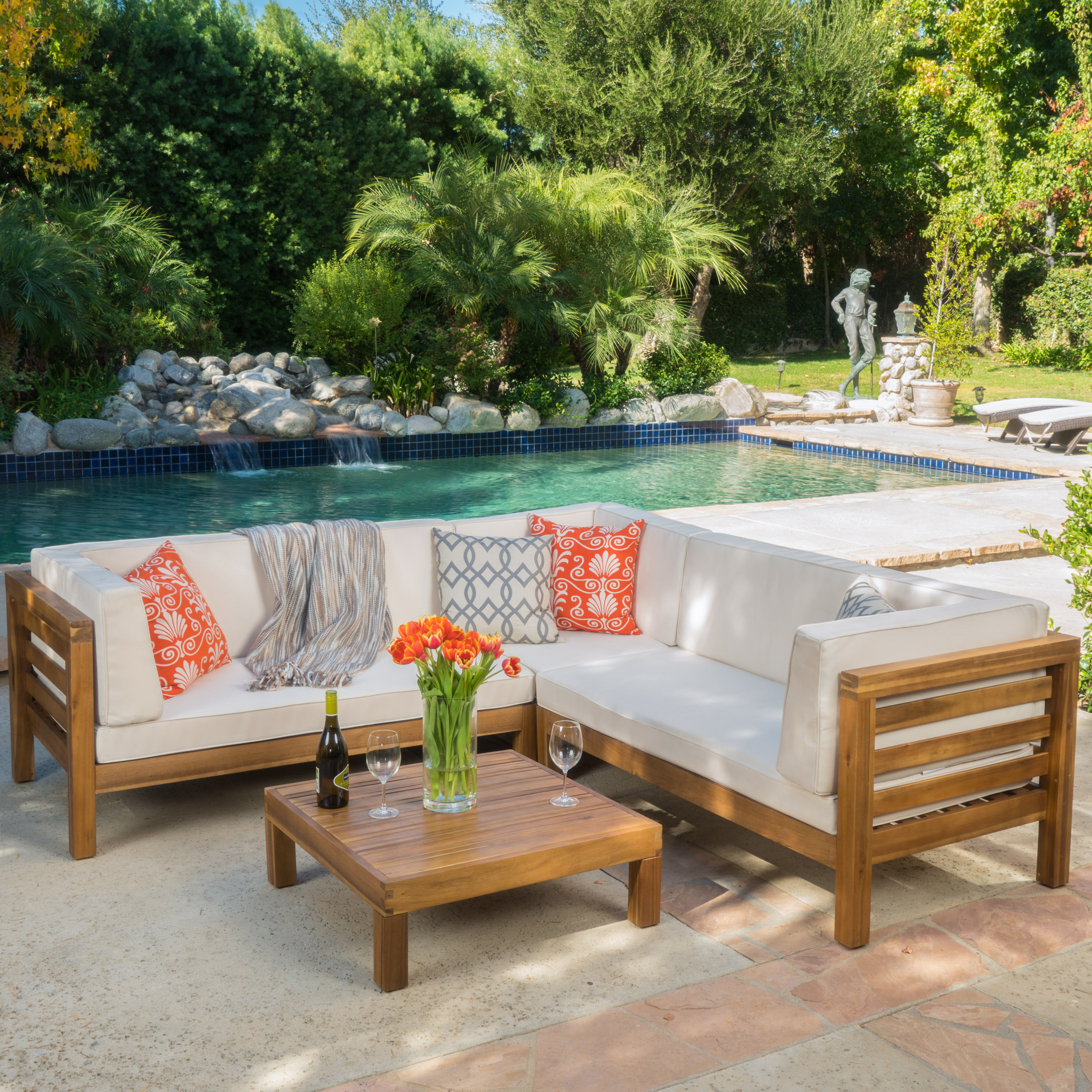 Farmhouse & Rustic Outdoor Sofa Sets (View 16 of 20)