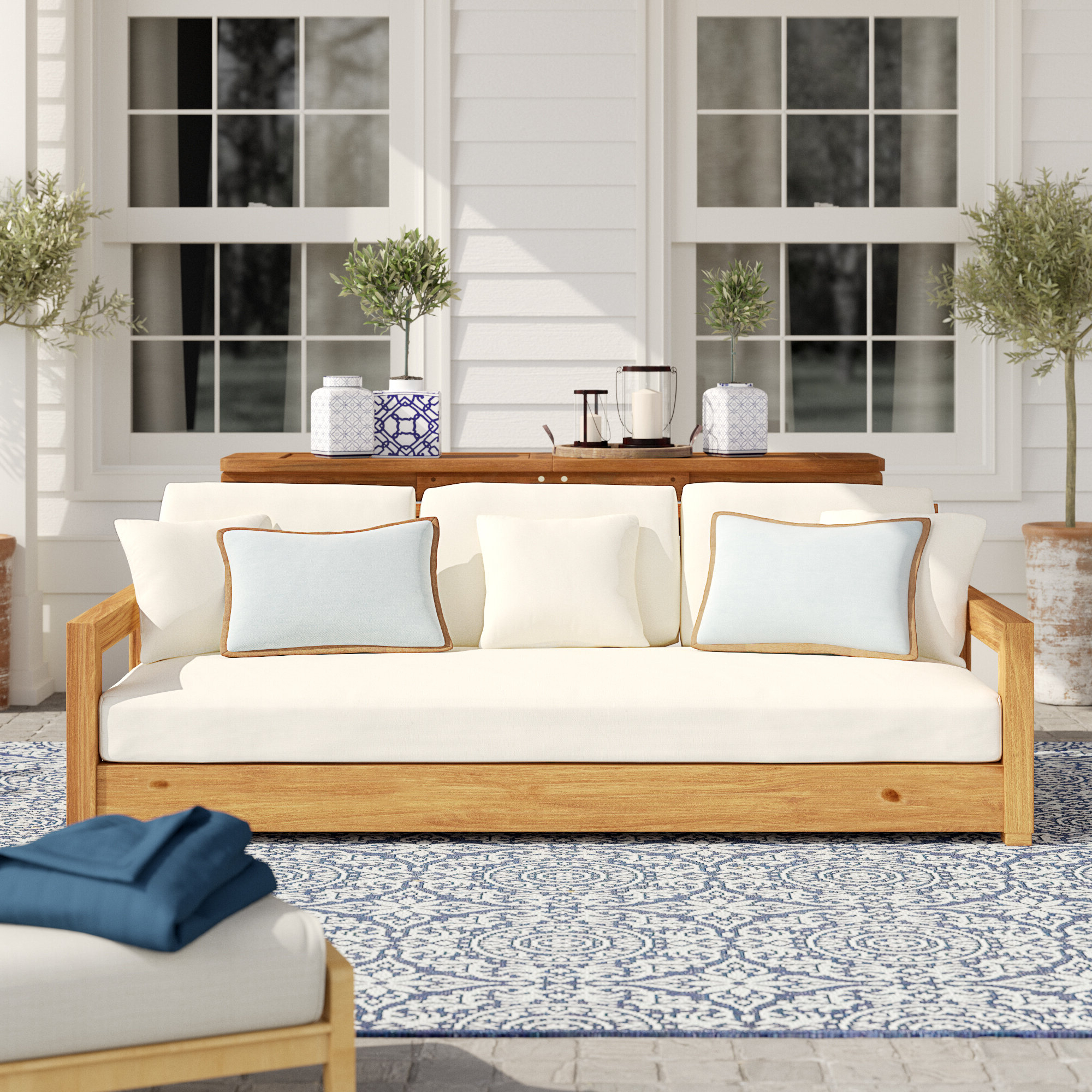 Farmhouse & Rustic Teak Outdoor Sofas (View 15 of 20)