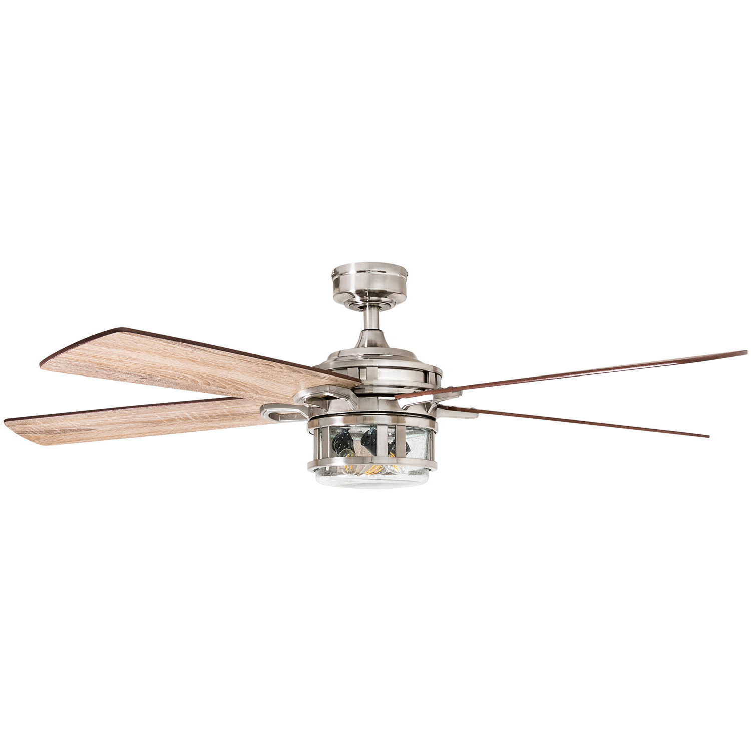 "Fashionable 52"" Rafe 5 Blades Led Ceiling Fan Light Kit Included Inside Kyla 5 Blade Ceiling Fans (View 18 of 20)"
