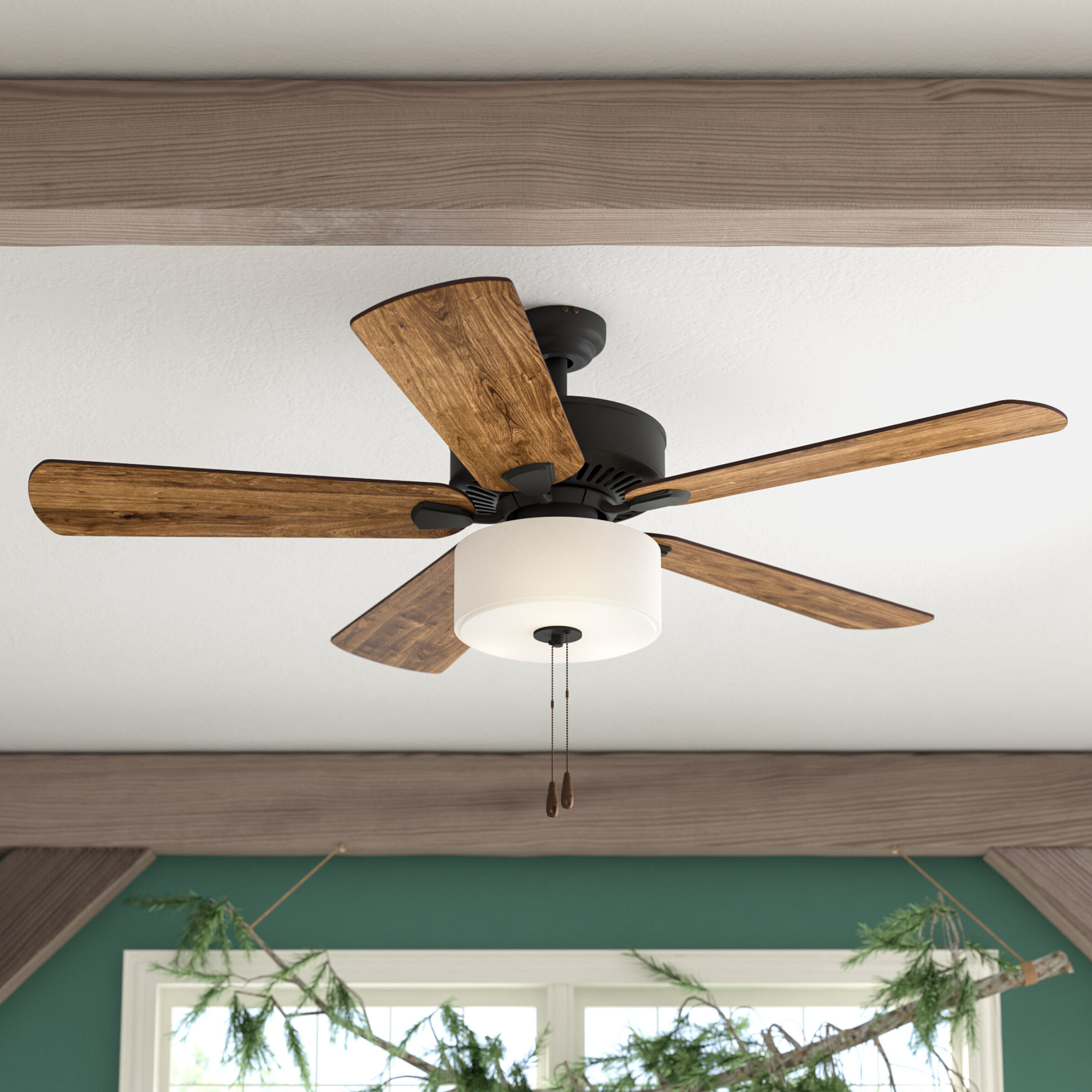 "Fashionable 52"" Sina 5 Blade Ceiling Fan, Light Kit Included Regarding Mattias 5 Blade Ceiling Fans (View 6 of 20)"