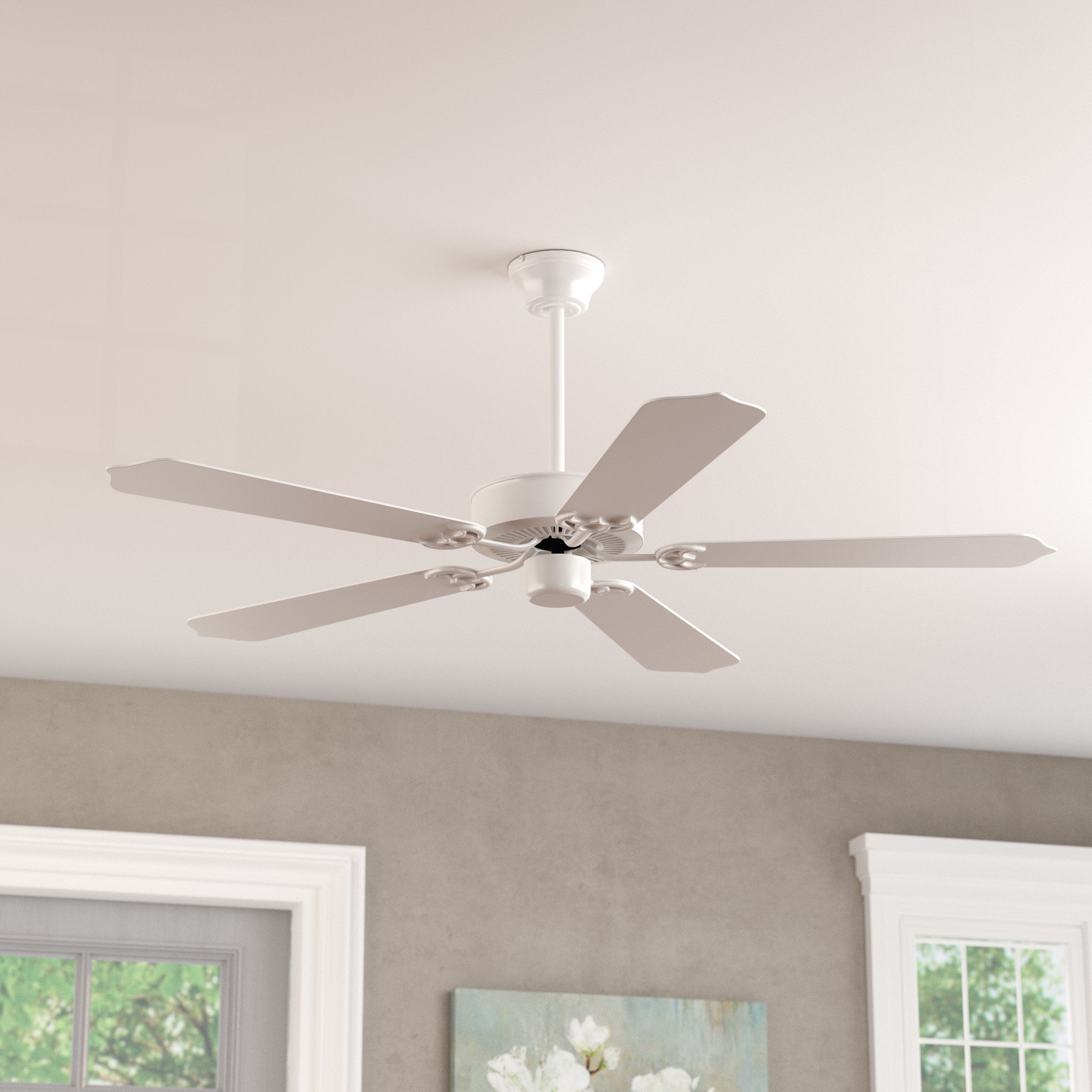 "Fashionable 52"" Weatherall 5 Blade Ceiling Fan In Emil 3 Blade Ceiling Fans (View 19 of 20)"