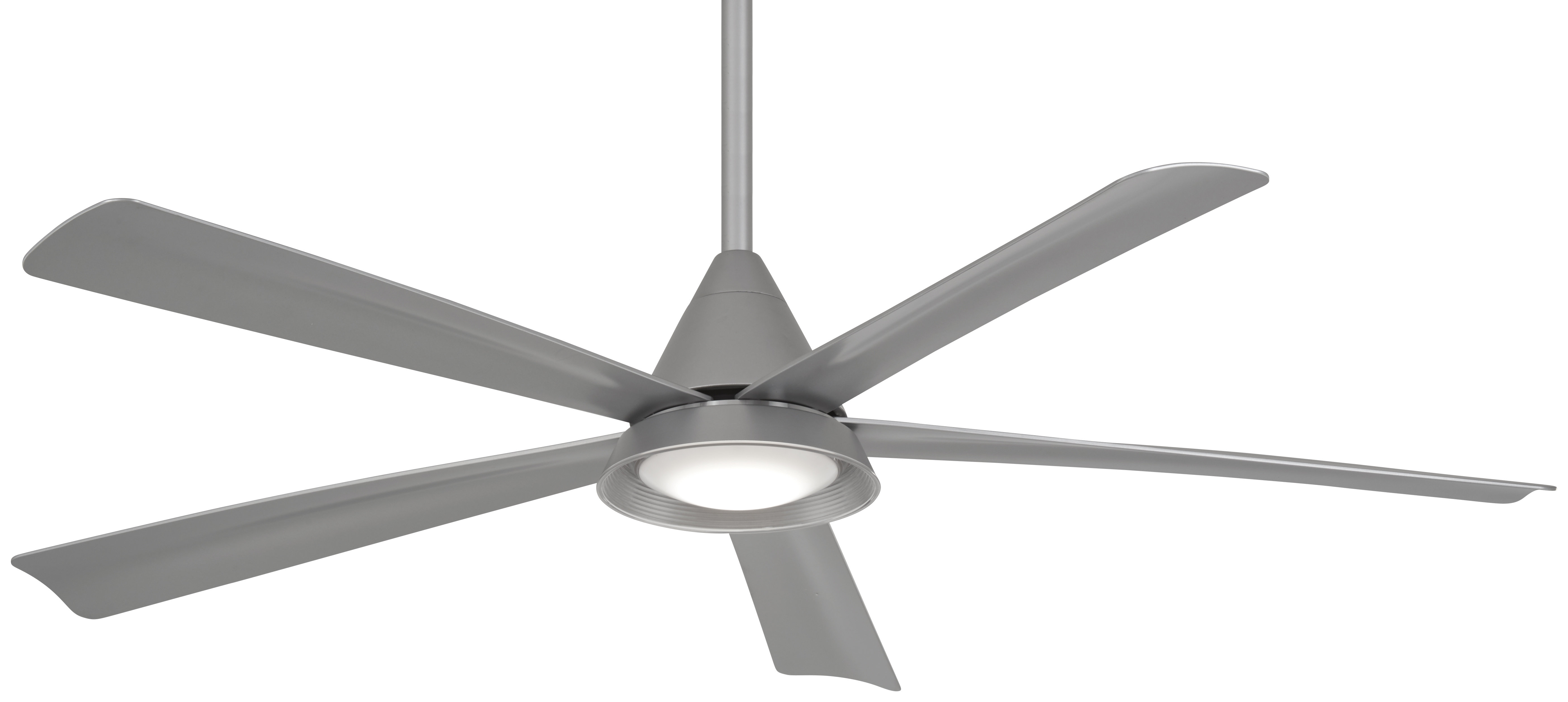 "Fashionable 54"" Cone 5 Blade Led Ceiling Fan With Remote In Raptor 5 Blade Ceiling Fans (View 6 of 20)"