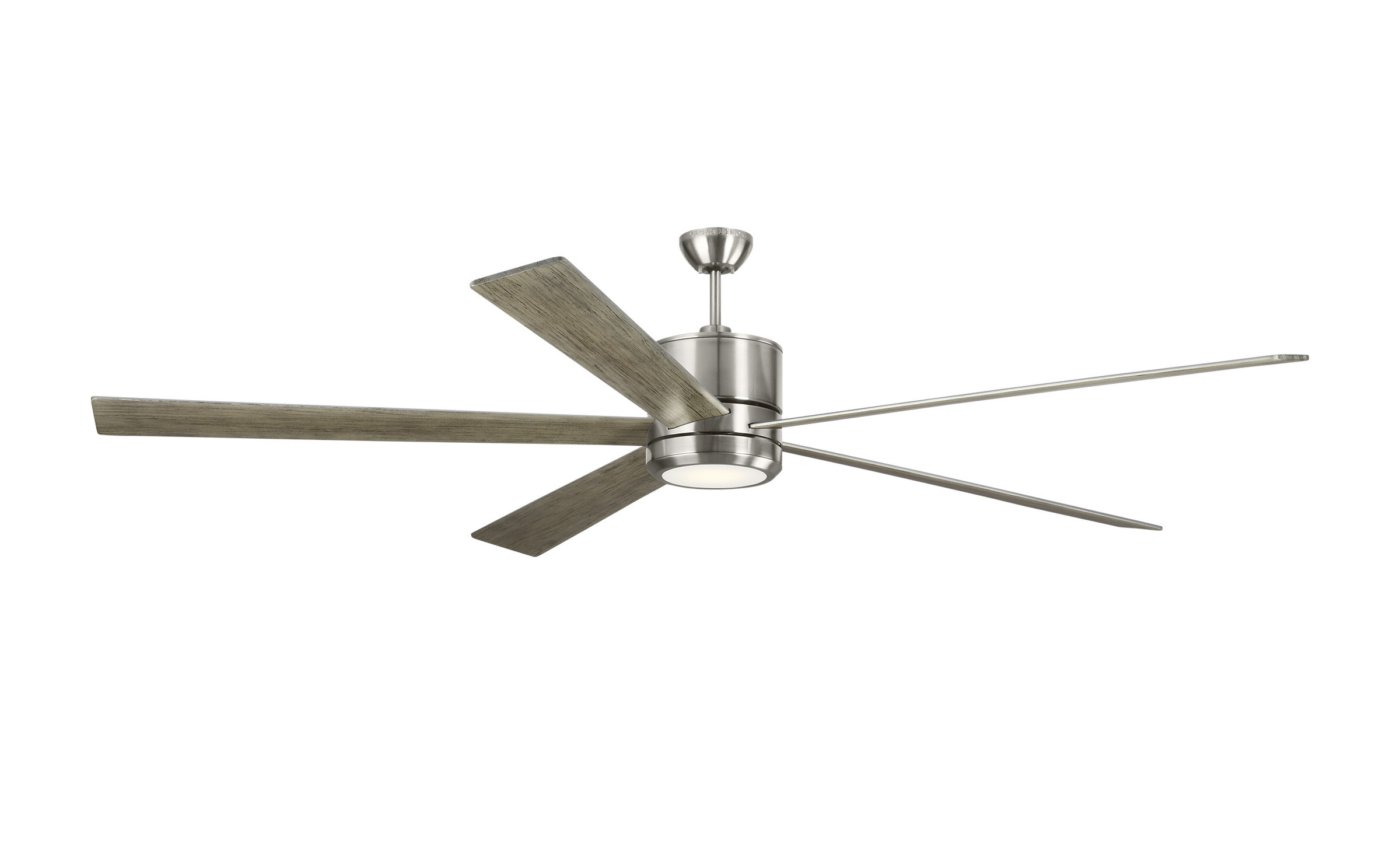 "Fashionable 84"" Maciel 5 Blade Led Ceiling Fan With Remote, Light Kit In Bankston 8 Blade Led Ceiling Fans (View 9 of 20)"