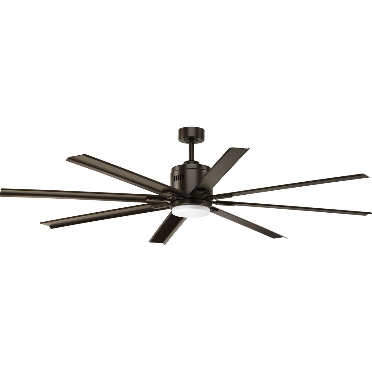 "Fashionable Bankston 8 Blade Led Ceiling Fans With Regard To 72"" Bankston 8 Blade Led Ceiling Fan With Remote, Light Kit Included (View 2 of 20)"