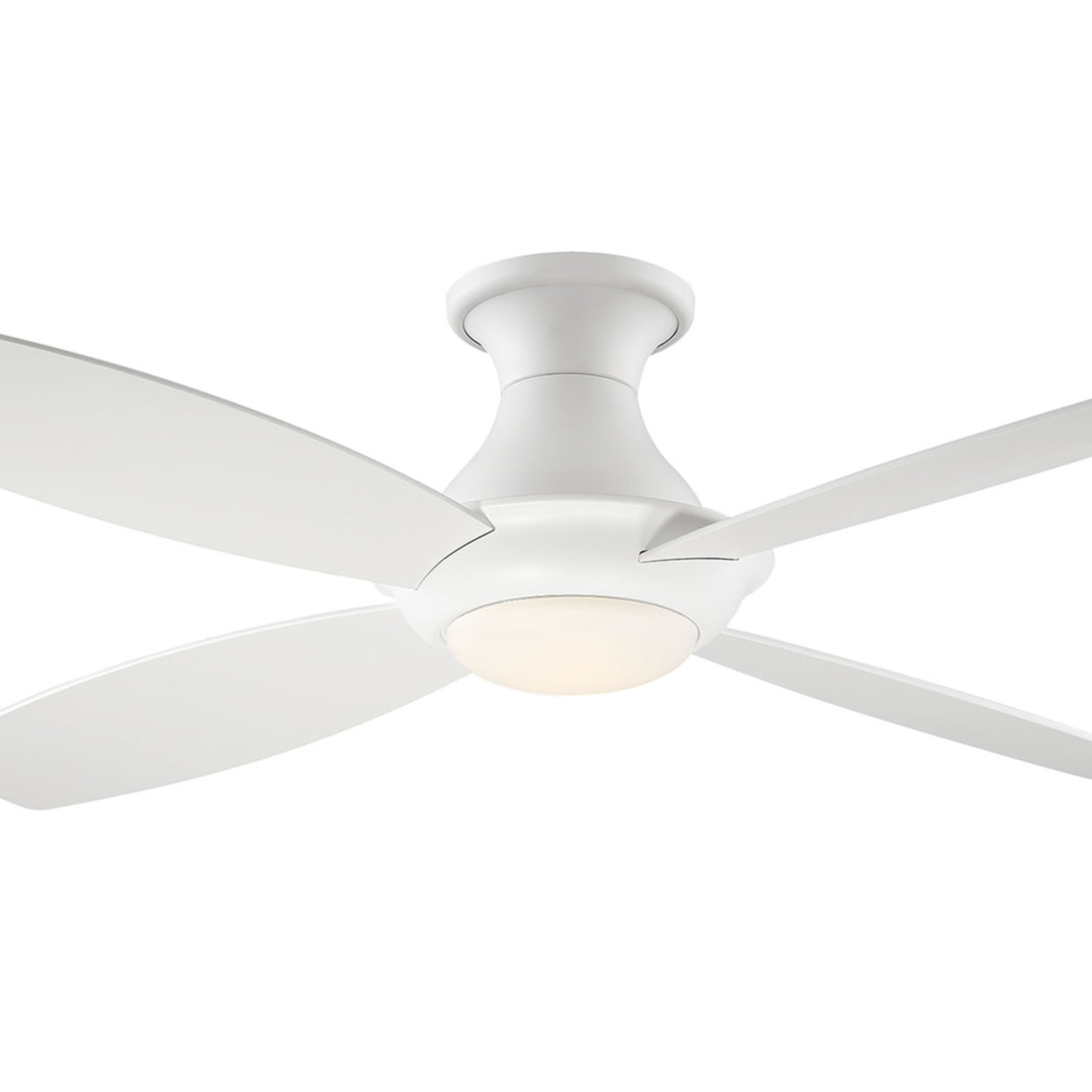 Fashionable Bayview 5 Blade Ceiling Fans Throughout Fifth And Main Bayview Led Hugger White Ceiling Fan (View 9 of 20)