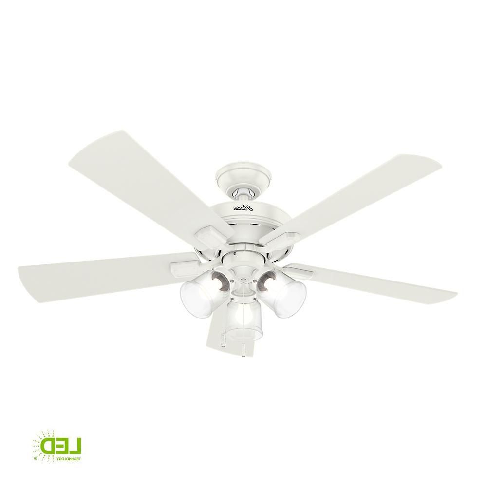 Fashionable Crestfield 5 Blade Ceiling Fans Intended For Hunter Crestfield 52 In (View 11 of 20)