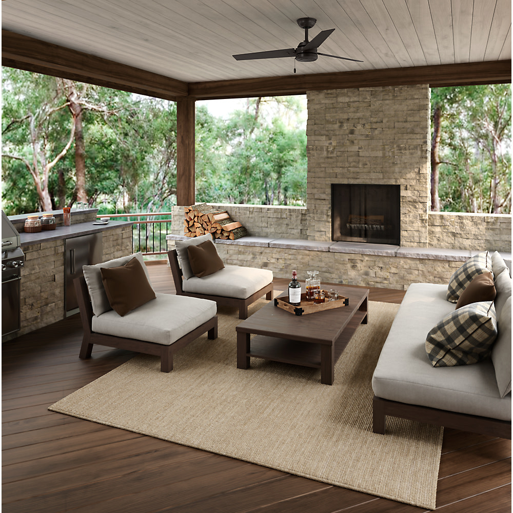 "Fashionable Details About Hunter Cassius 52 Cassius 52"" 3 Blade Outdoor Ceiling Fan  With Pull Chain Pertaining To Cassius 3 Blade Outdoor Ceiling Fans (View 12 of 20)"