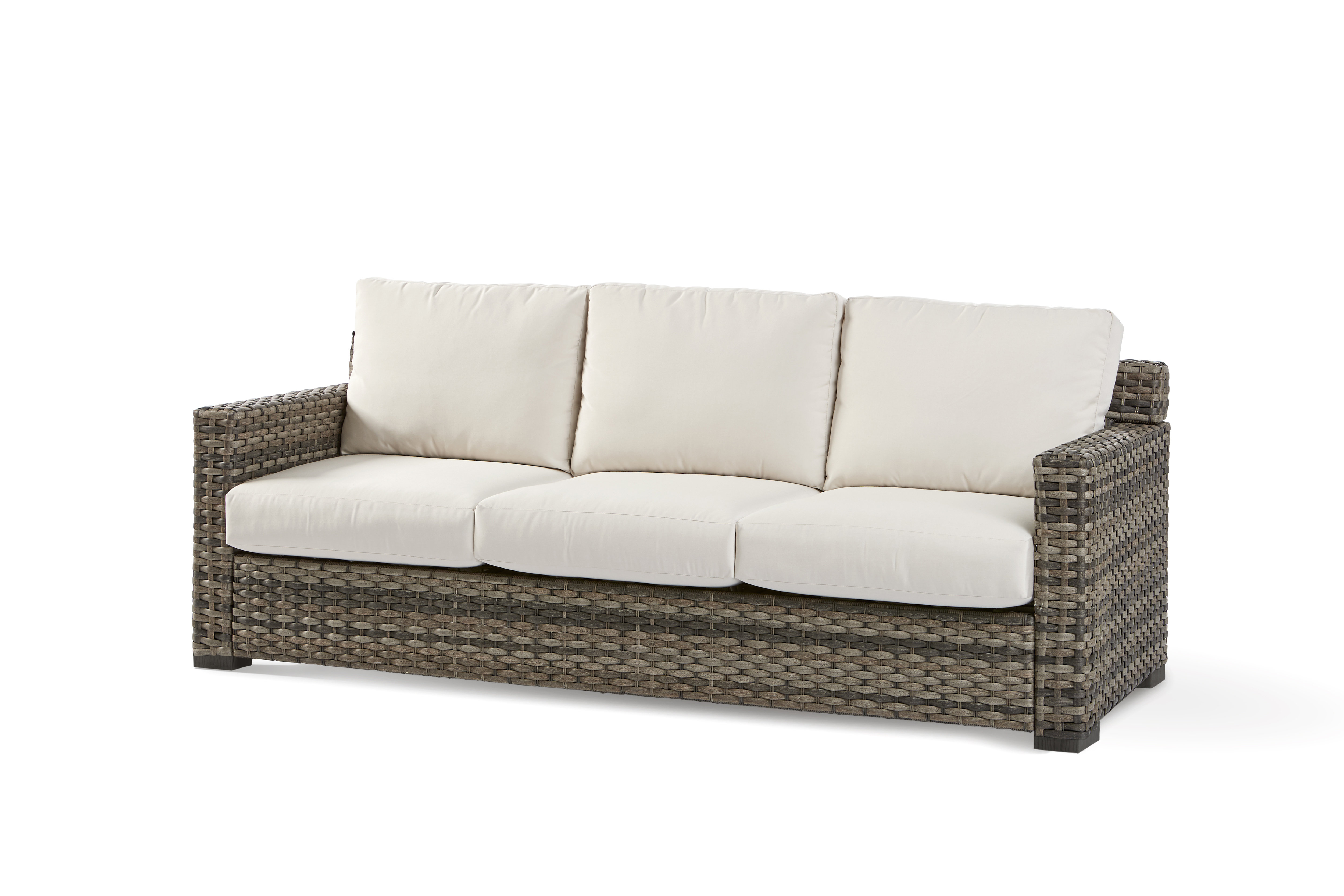 Fashionable Grosvenor Bamboo Patio Daybeds With Cushions Intended For Jakarta Patio Sofa With Sunbrella Cushion (View 2 of 20)