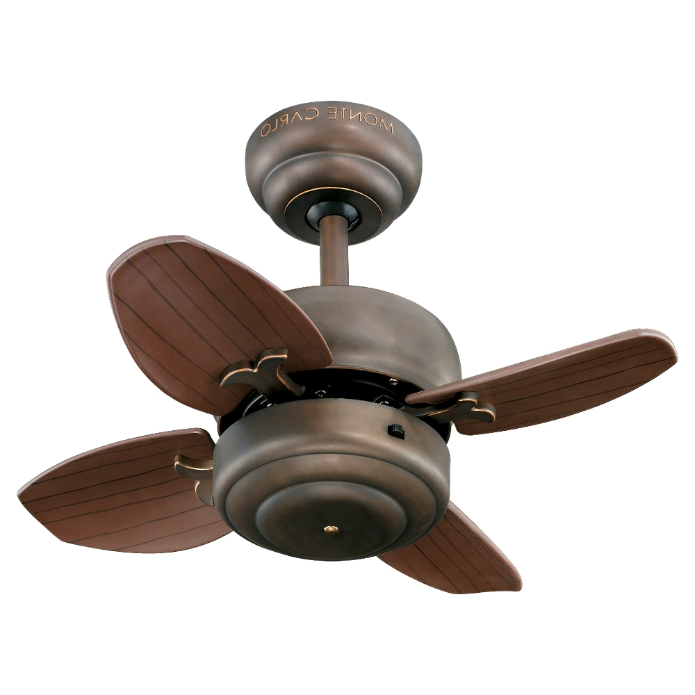 Fashionable Hemsworth 4 Blade Ceiling Fans Pertaining To Latest Small Ceiling Fans For Spacesthe Monte Carlo Fan (View 7 of 20)