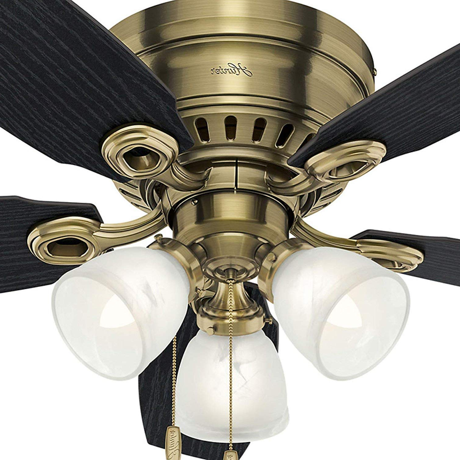 "Fashionable Hunter 46"" Hatherton New Bronze Ceiling Fan With Light Inside Hatherton 5 Blade Ceiling Fans (View 19 of 20)"